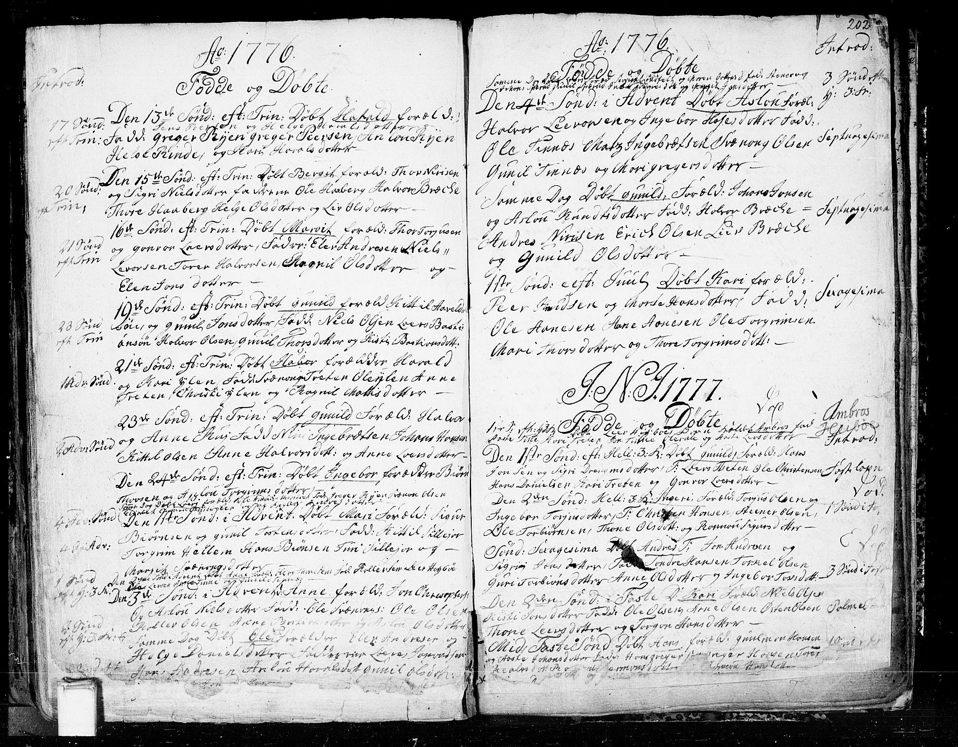 SAKO, Heddal kirkebøker, F/Fa/L0003: Ministerialbok nr. I 3, 1723-1783, s. 202