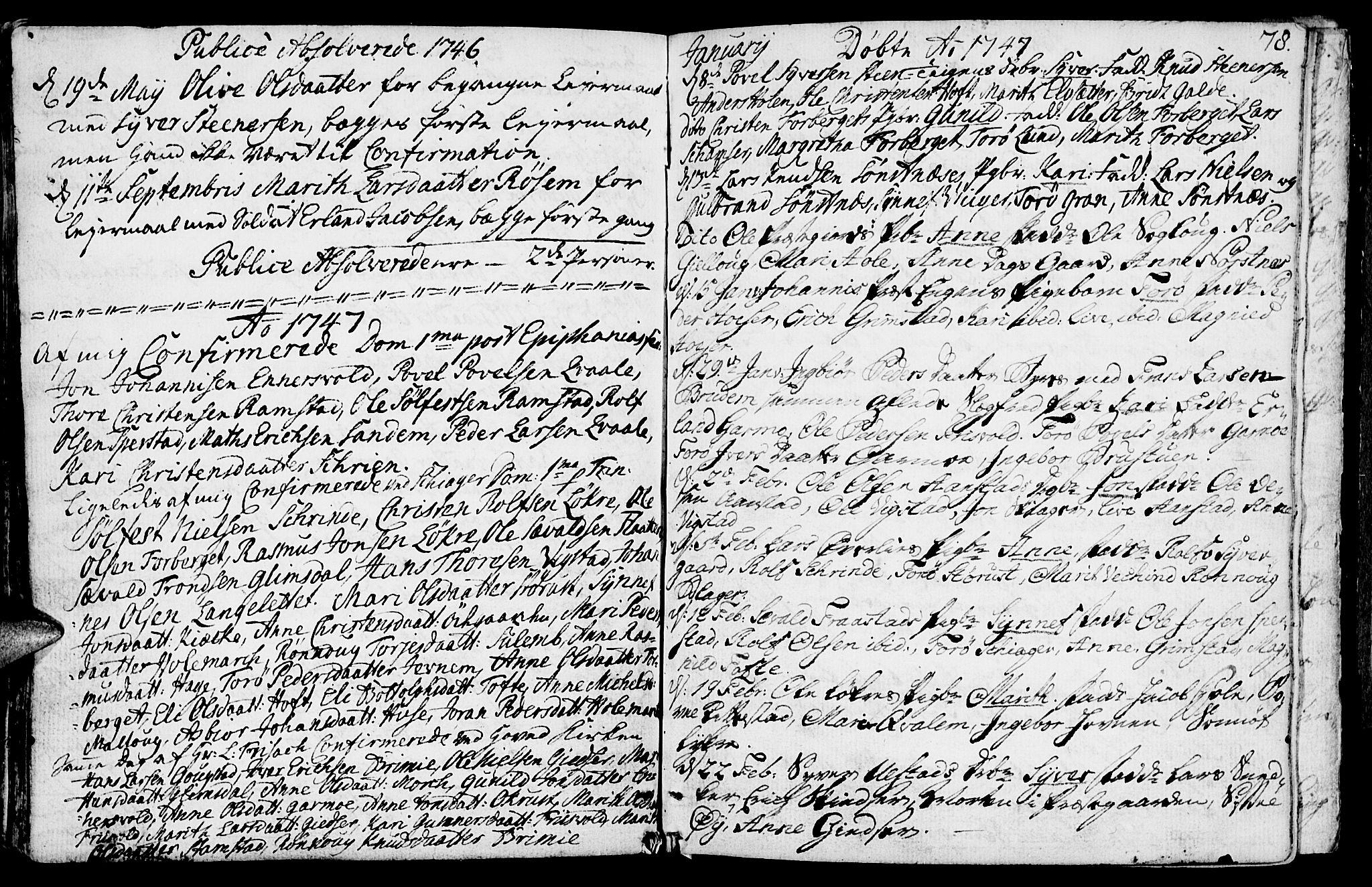 SAH, Lom prestekontor, K/L0001: Ministerialbok nr. 1, 1733-1748, s. 78