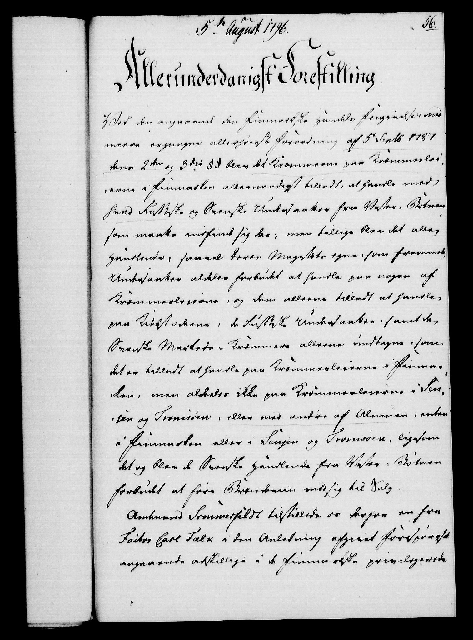 RA, Rentekammeret, Kammerkanselliet, G/Gf/Gfa/L0078: Norsk relasjons- og resolusjonsprotokoll (merket RK 52.78), 1796, s. 292