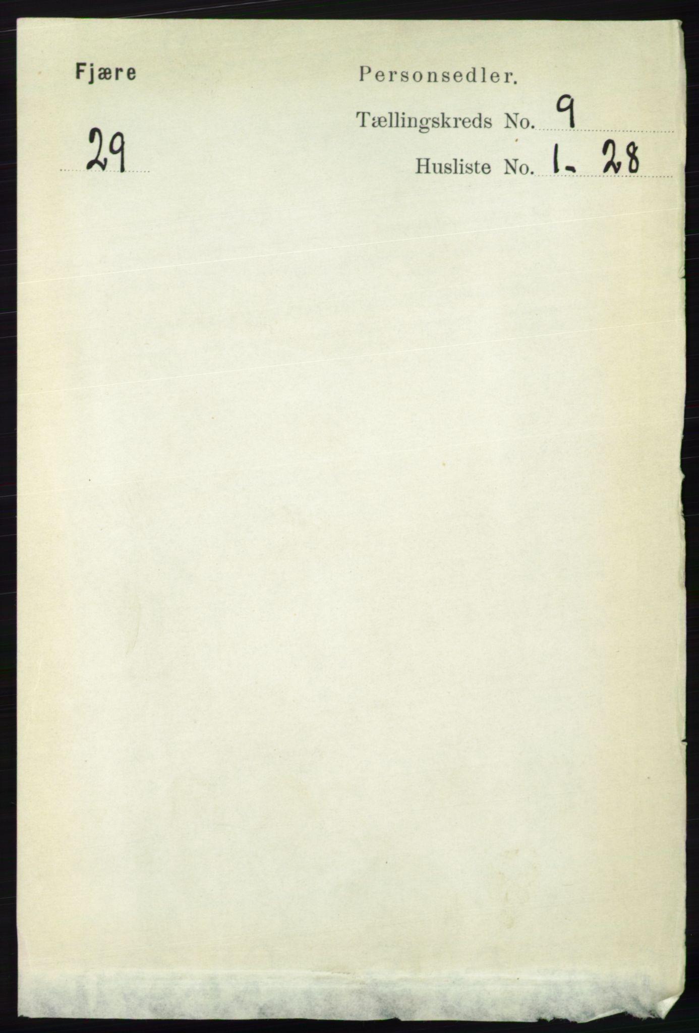RA, Folketelling 1891 for 0923 Fjære herred, 1891, s. 4199