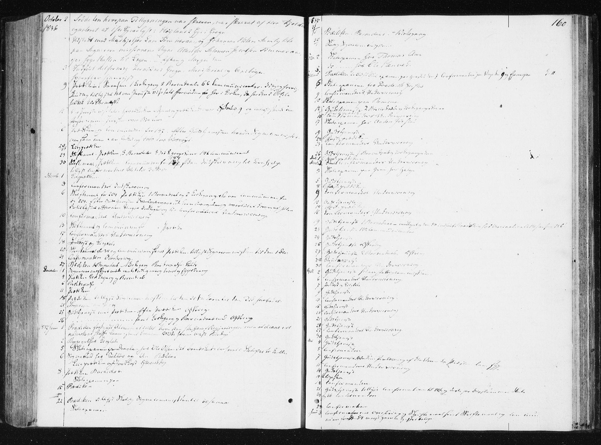 SAT, Ministerialprotokoller, klokkerbøker og fødselsregistre - Nord-Trøndelag, 749/L0470: Ministerialbok nr. 749A04, 1834-1853, s. 160