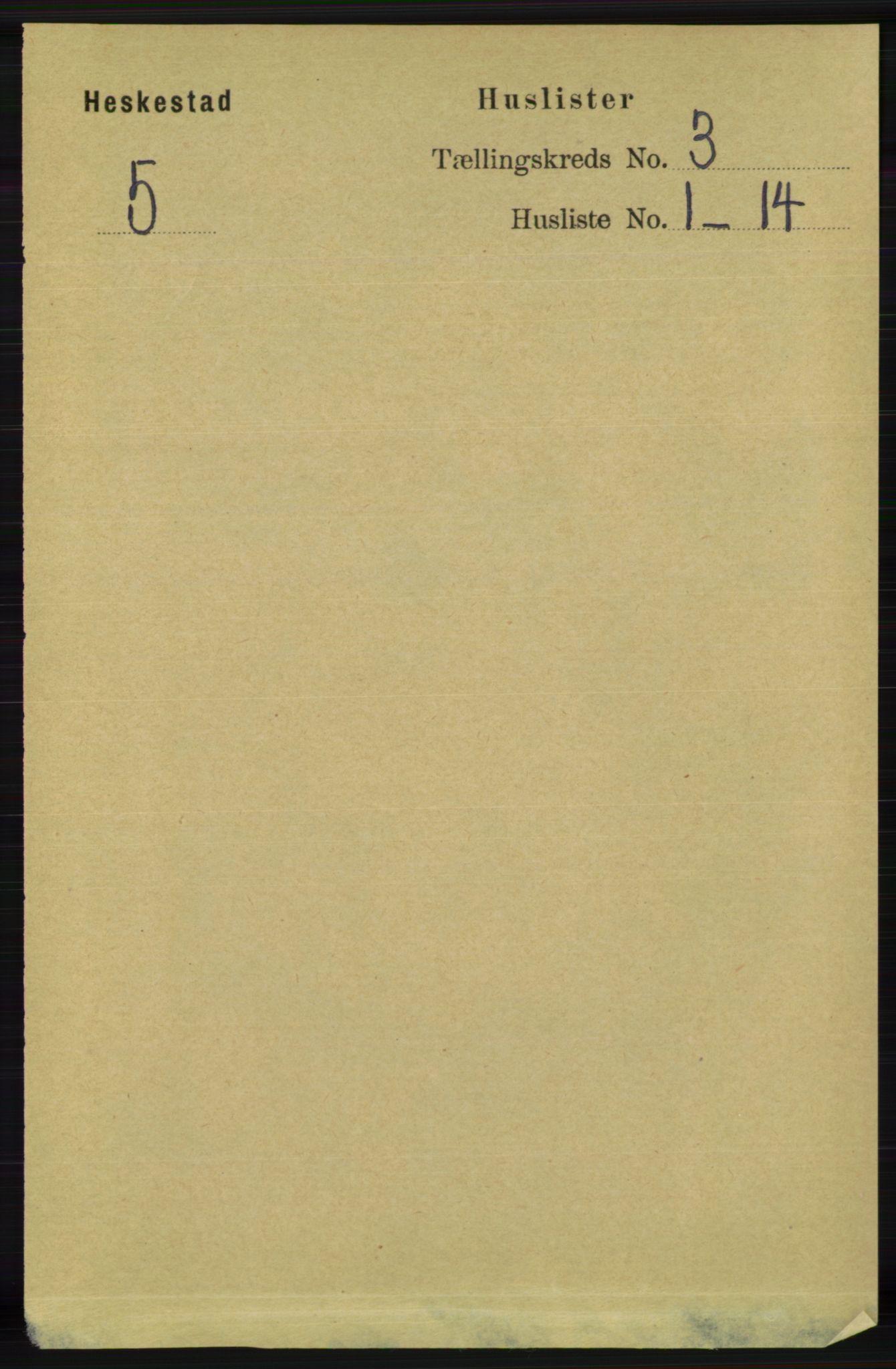 RA, Folketelling 1891 for 1113 Heskestad herred, 1891, s. 391