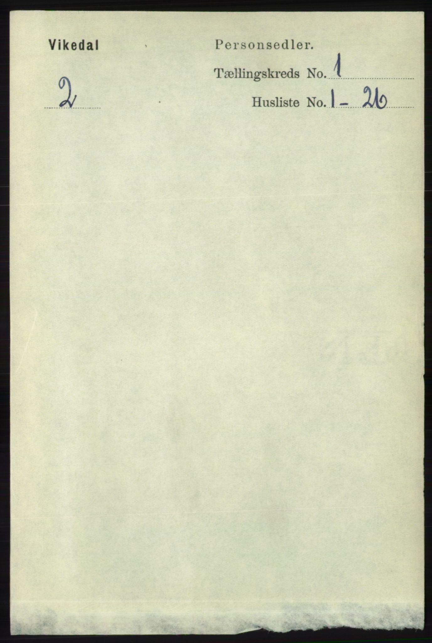 RA, Folketelling 1891 for 1157 Vikedal herred, 1891, s. 59