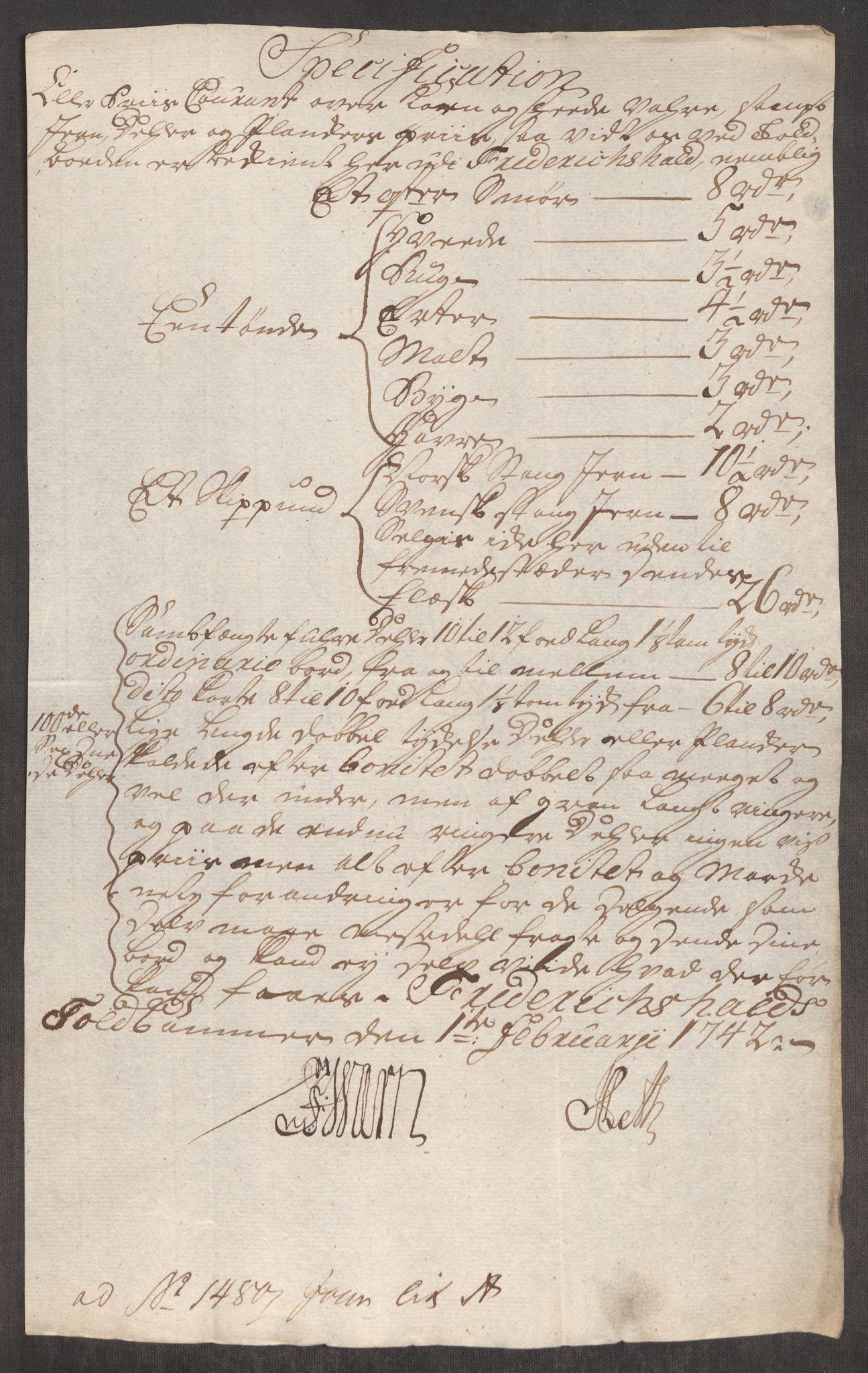 RA, Rentekammeret inntil 1814, Realistisk ordnet avdeling, Oe/L0002: [Ø1]: Priskuranter, 1740-1744, s. 394