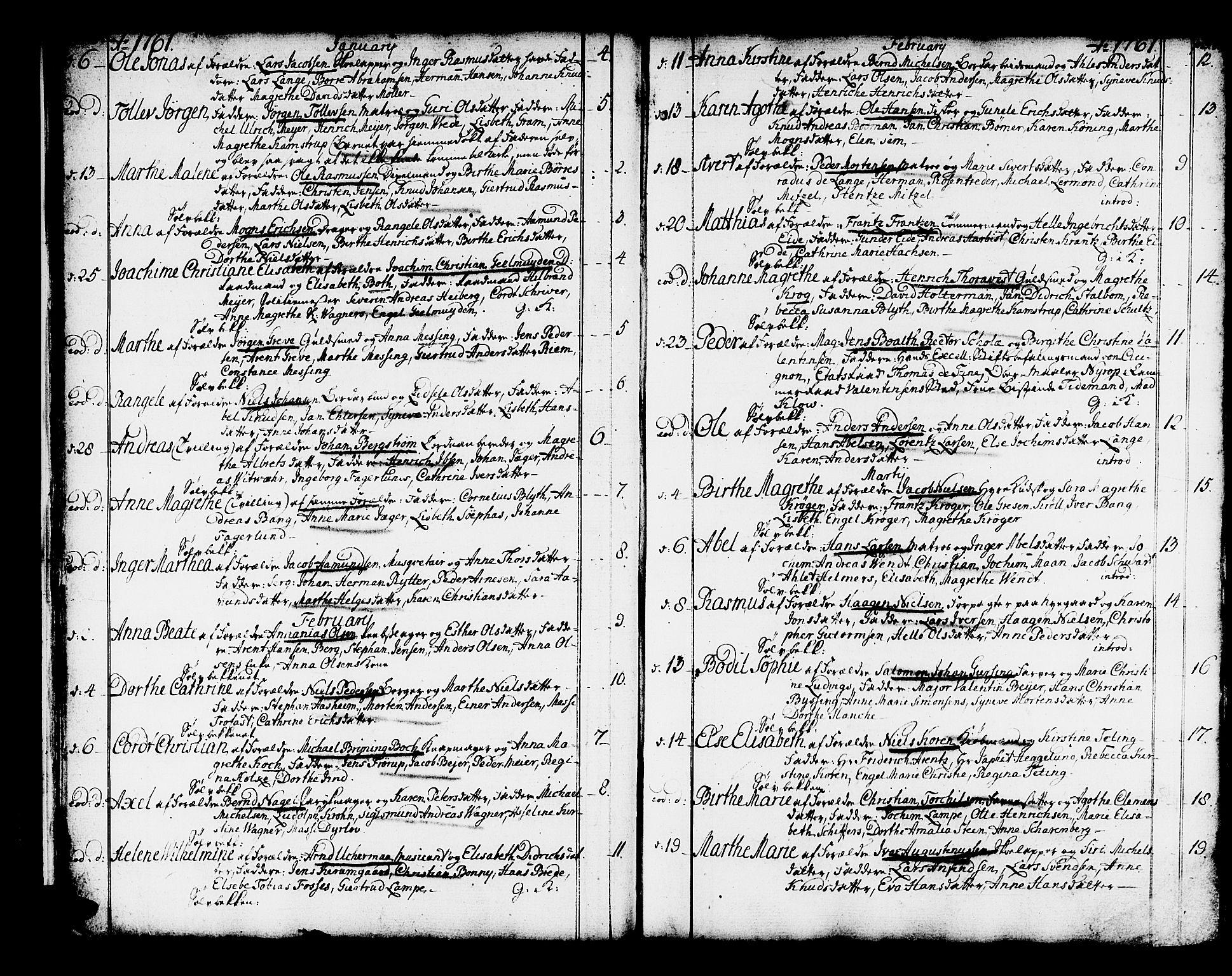 SAB, Domkirken sokneprestembete, H/Haa/L0003: Ministerialbok nr. A 3, 1758-1789, s. 36-37