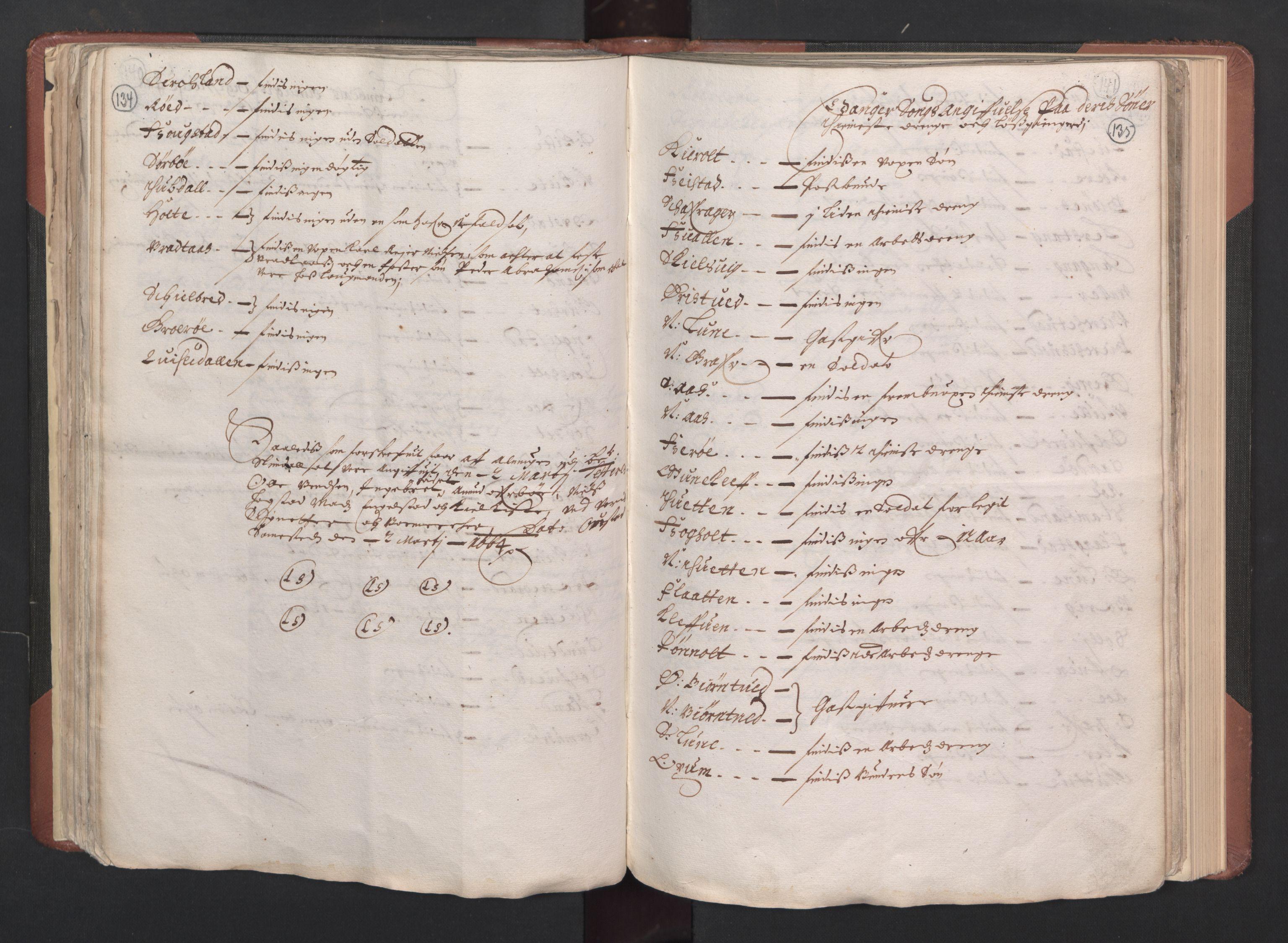 RA, Fogdenes og sorenskrivernes manntall 1664-1666, nr. 6: Øvre og Nedre Telemark fogderi og Bamble fogderi , 1664, s. 134-135