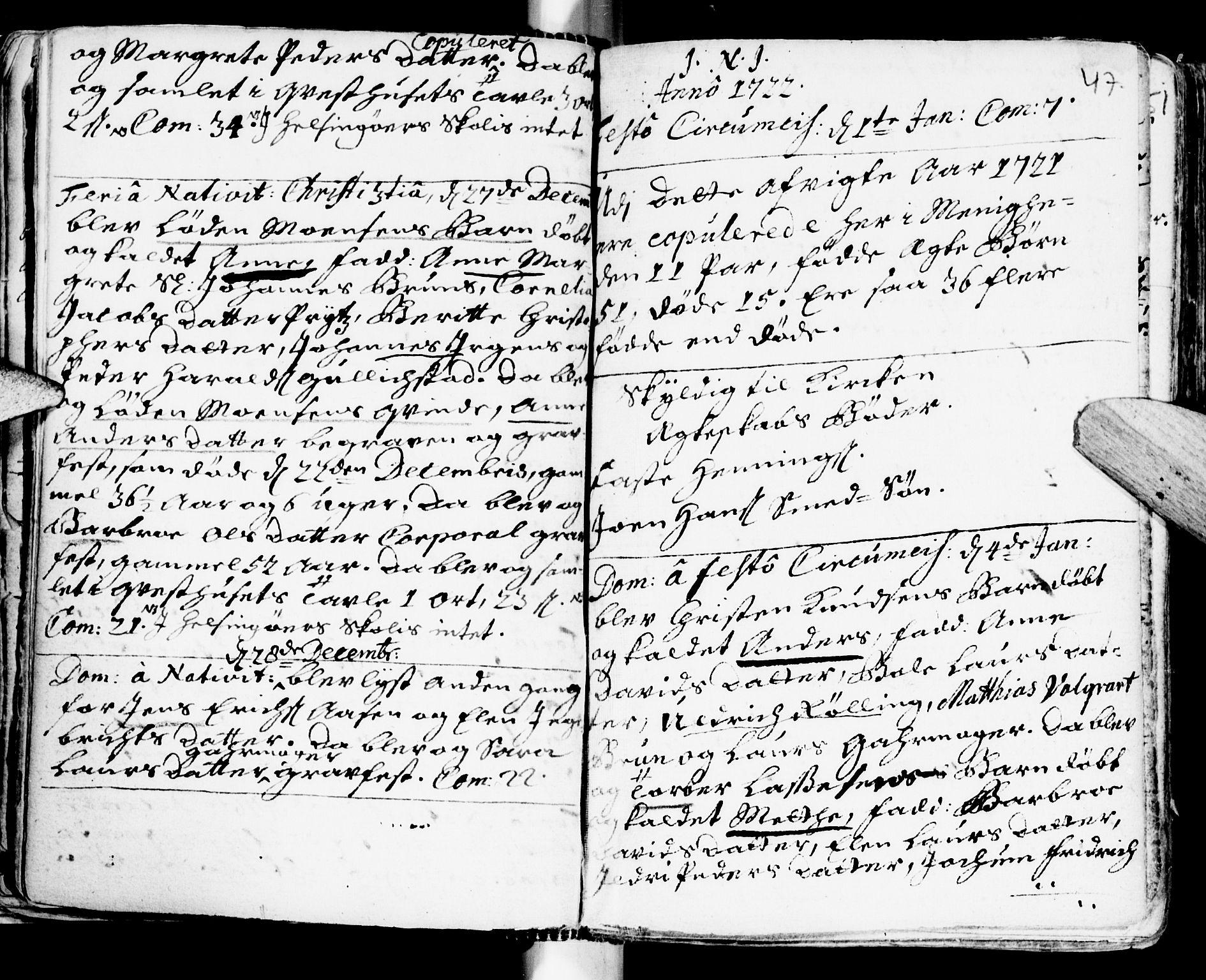 SAT, Ministerialprotokoller, klokkerbøker og fødselsregistre - Sør-Trøndelag, 681/L0924: Ministerialbok nr. 681A02, 1720-1731, s. 46-47