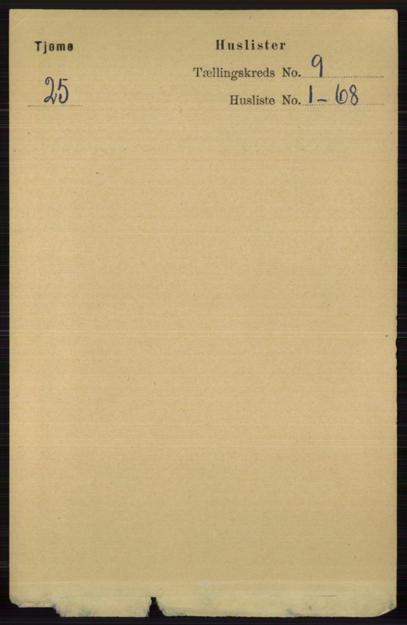 RA, Folketelling 1891 for 0723 Tjøme herred, 1891, s. 3189