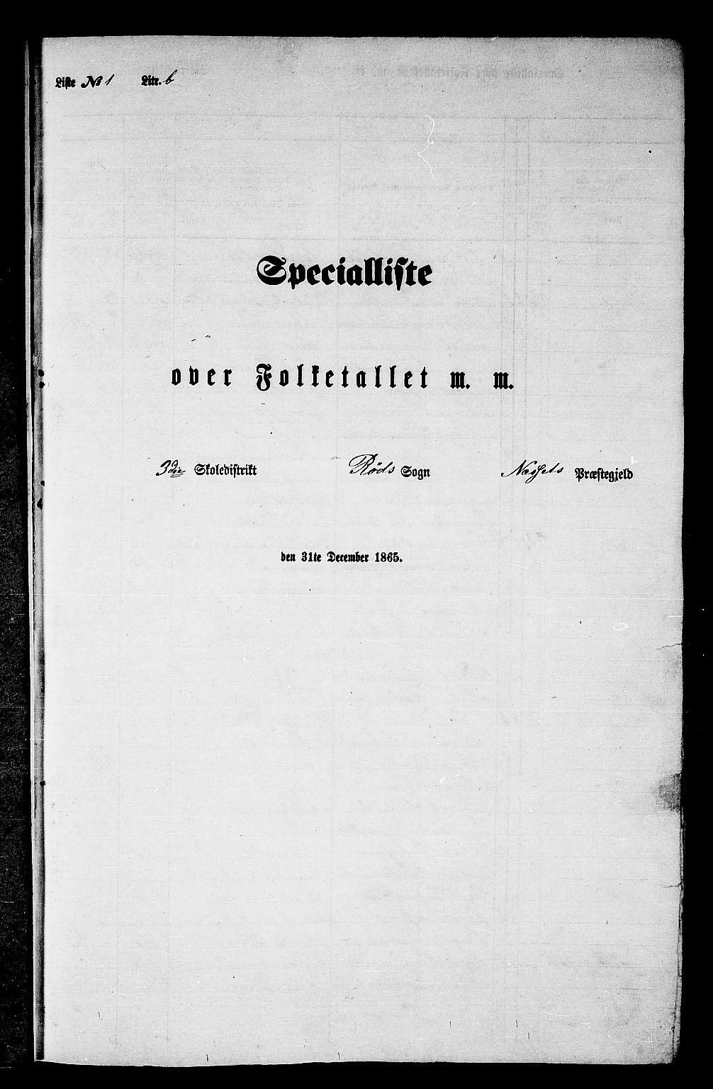 RA, Folketelling 1865 for 1543P Nesset prestegjeld, 1865, s. 24