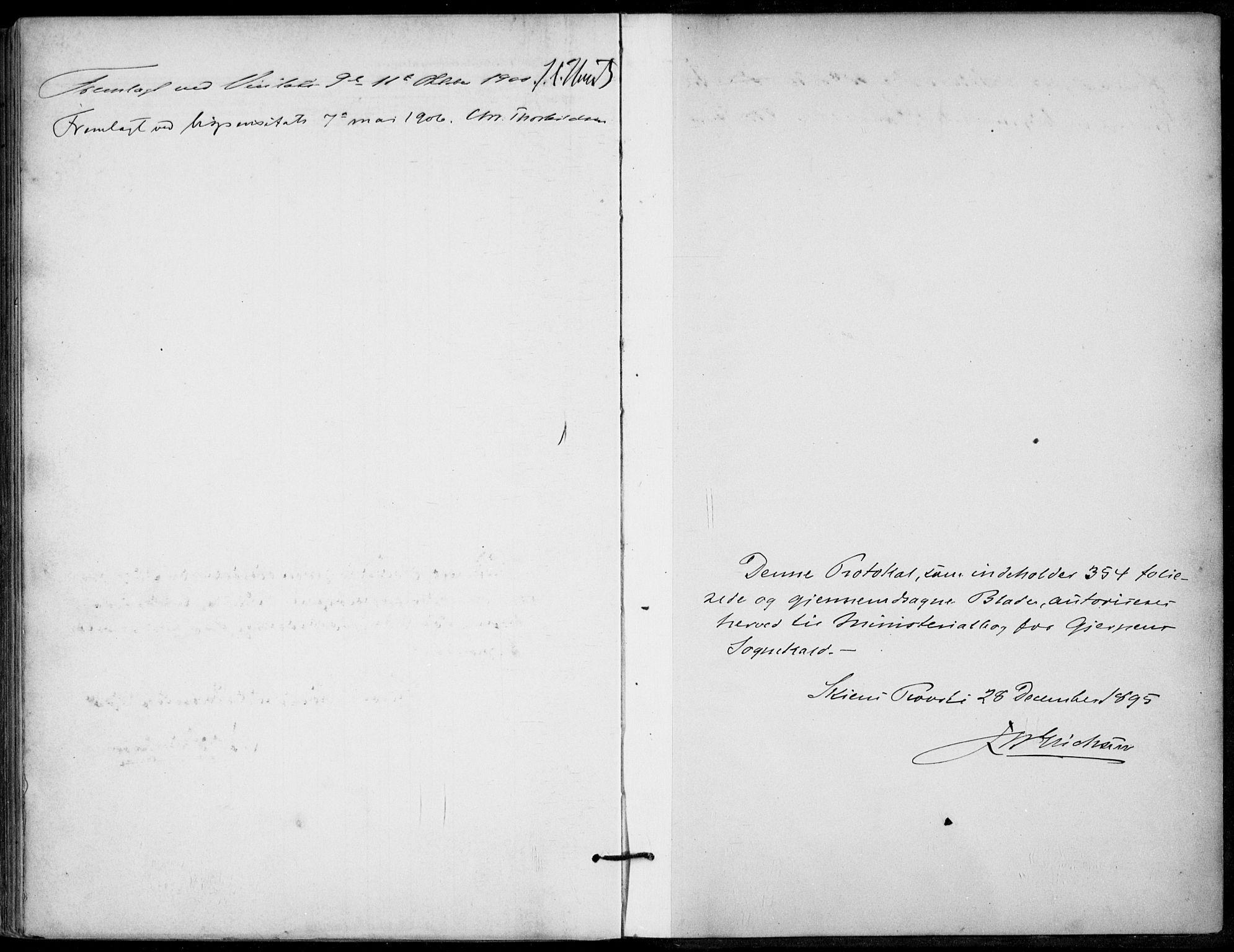 SAKO, Gjerpen kirkebøker, F/Fa/L0011: Ministerialbok nr. 11, 1896-1904