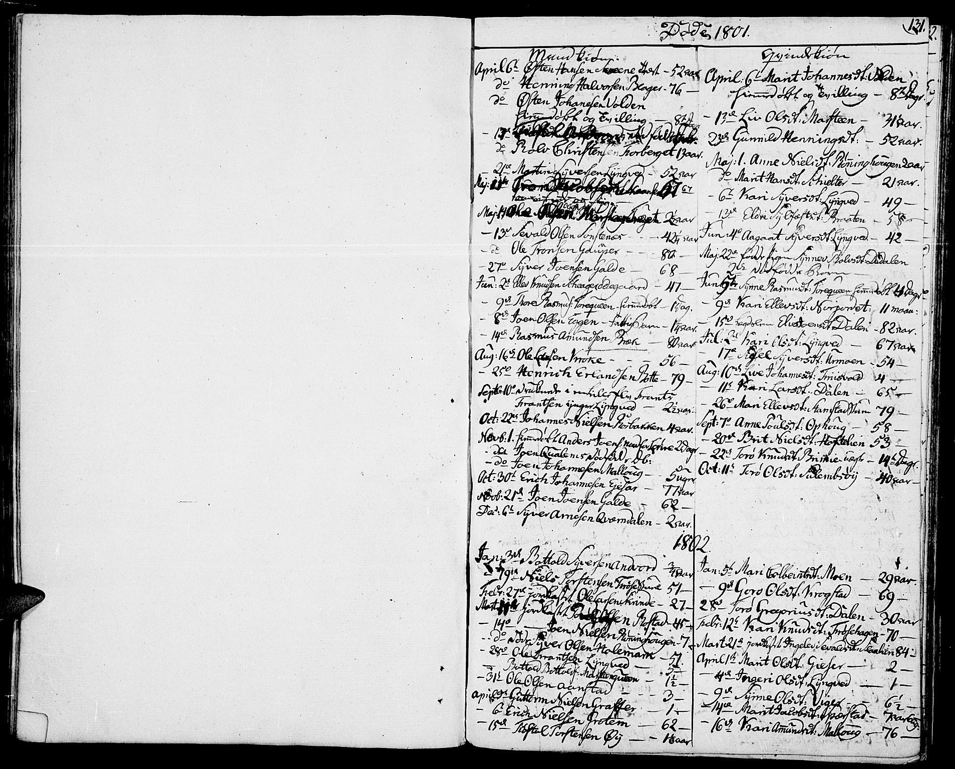 SAH, Lom prestekontor, K/L0003: Ministerialbok nr. 3, 1801-1825, s. 131