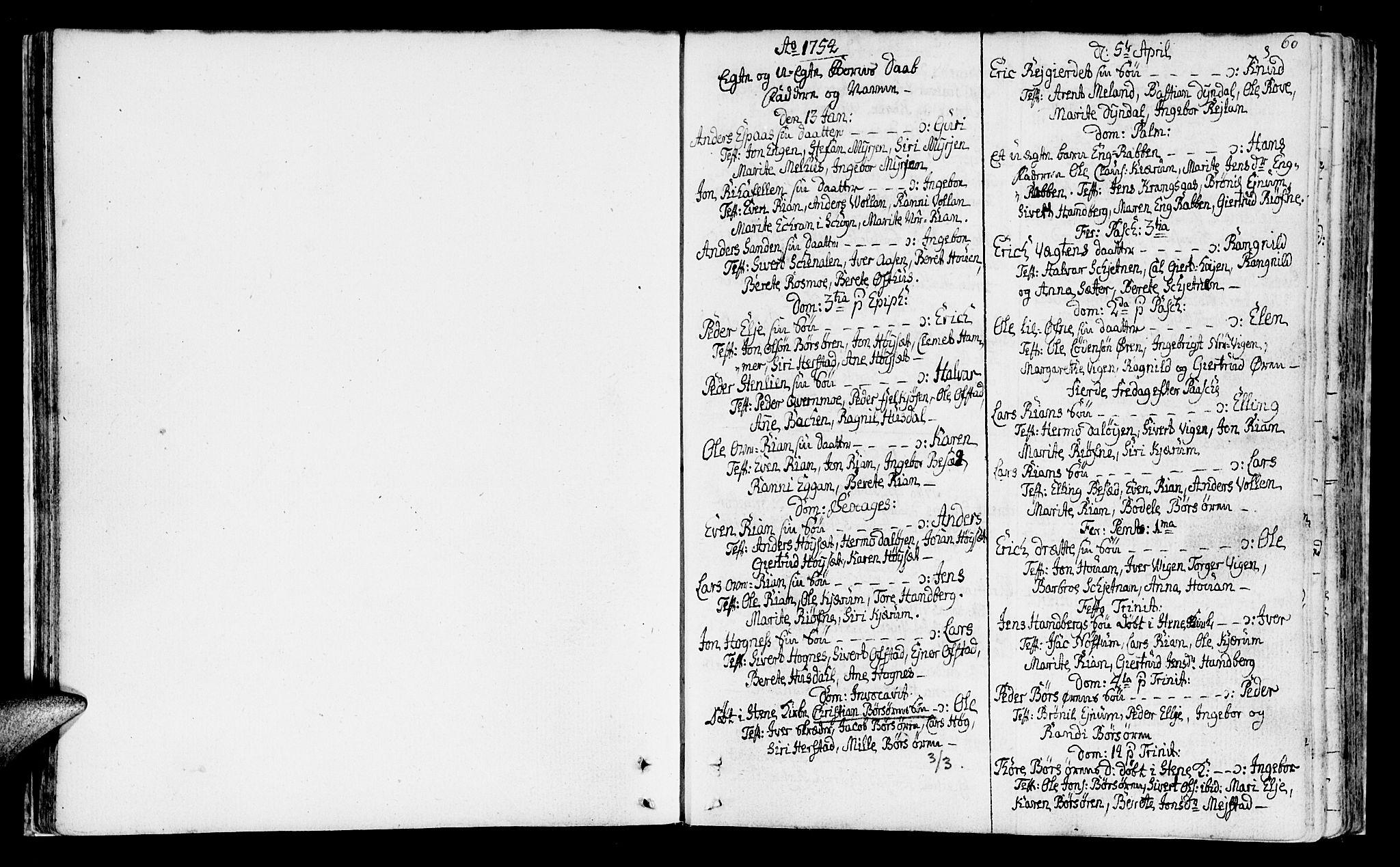 SAT, Ministerialprotokoller, klokkerbøker og fødselsregistre - Sør-Trøndelag, 665/L0768: Ministerialbok nr. 665A03, 1754-1803, s. 60