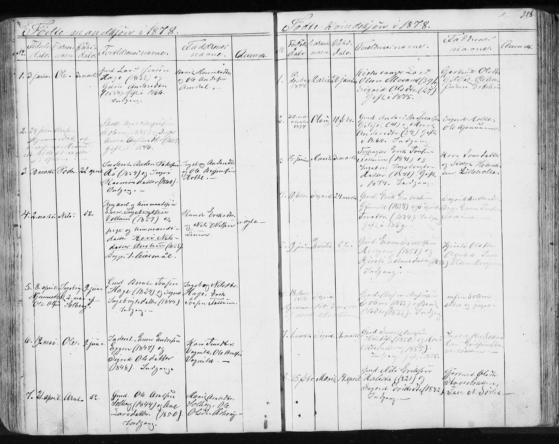 SAT, Ministerialprotokoller, klokkerbøker og fødselsregistre - Sør-Trøndelag, 689/L1043: Klokkerbok nr. 689C02, 1816-1892, s. 245