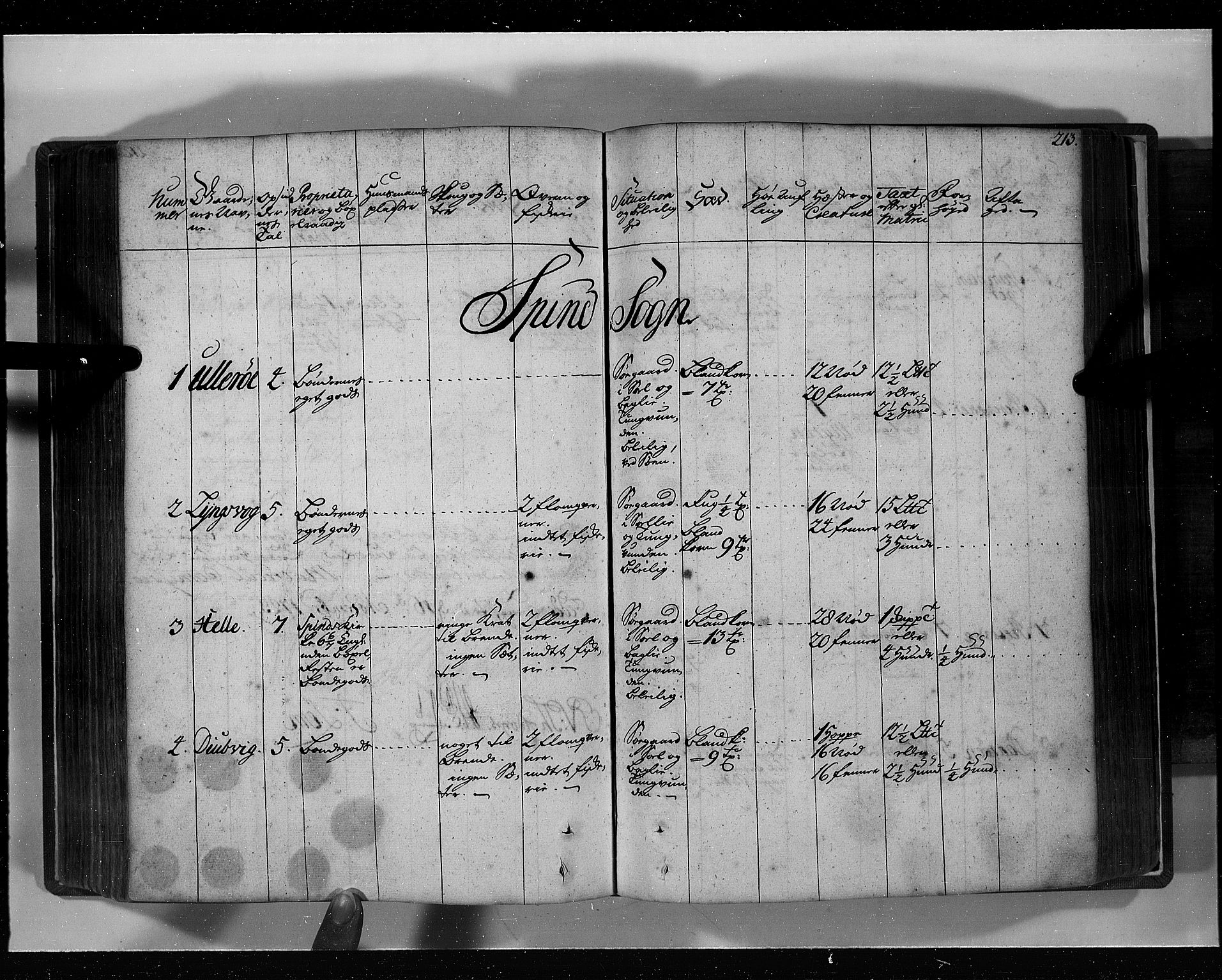 RA, Rentekammeret inntil 1814, Realistisk ordnet avdeling, N/Nb/Nbf/L0129: Lista eksaminasjonsprotokoll, 1723, s. 212b-213a
