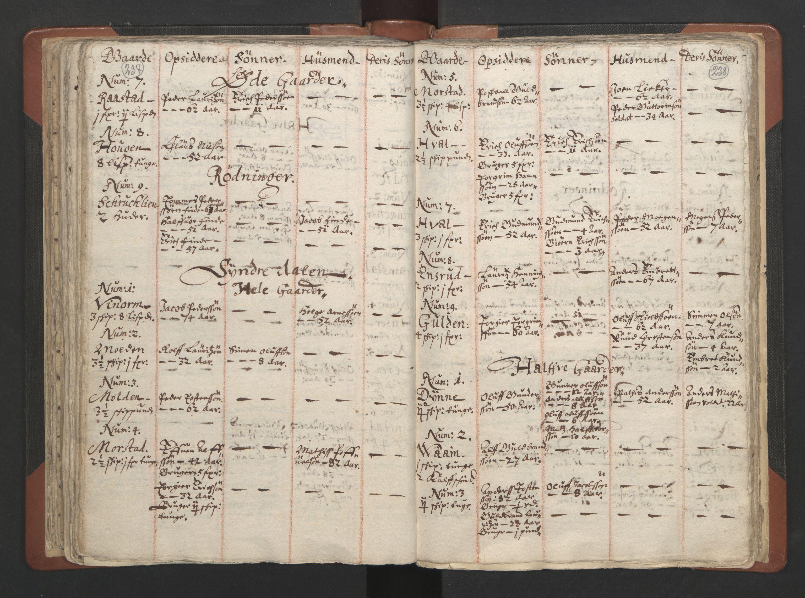 RA, Sogneprestenes manntall 1664-1666, nr. 7: Hadeland prosti, 1664-1666, s. 237-238