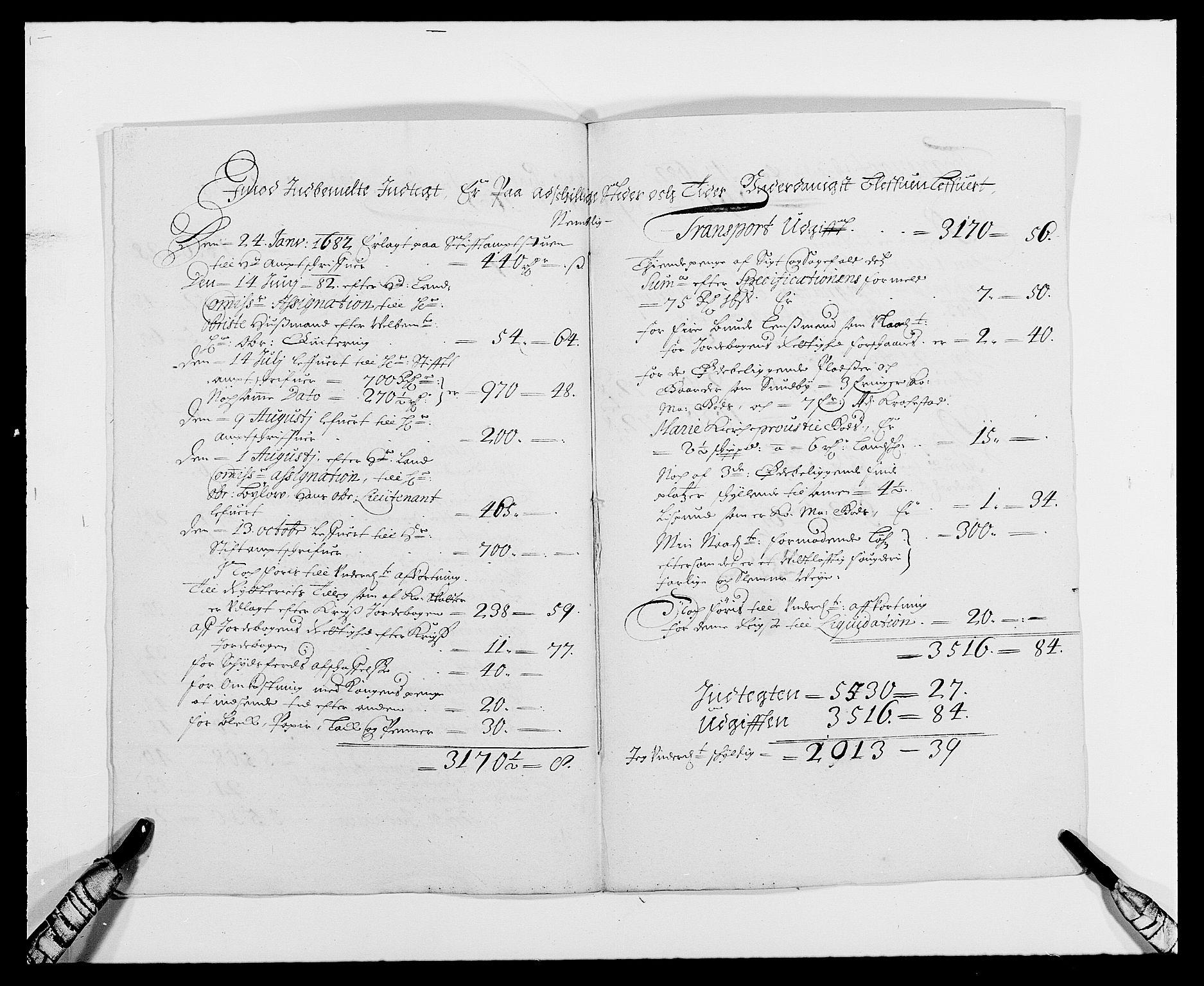 RA, Rentekammeret inntil 1814, Reviderte regnskaper, Fogderegnskap, R21/L1445: Fogderegnskap Ringerike og Hallingdal, 1681-1689, s. 224