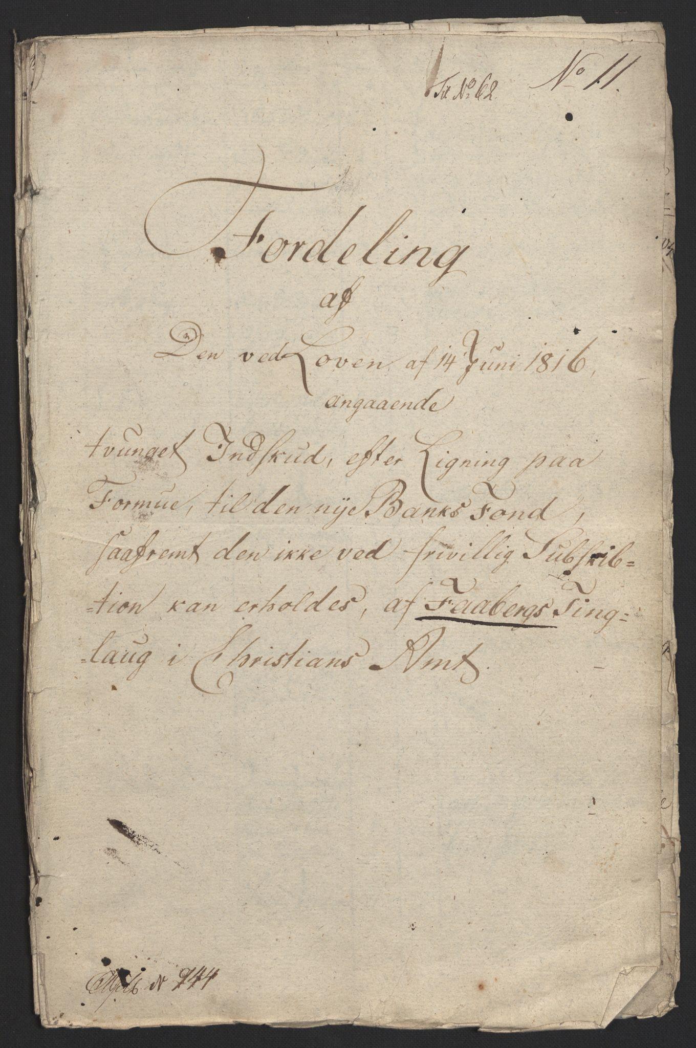 NOBA, Norges Bank/Sølvskatten 1816*, 1816, s. 131
