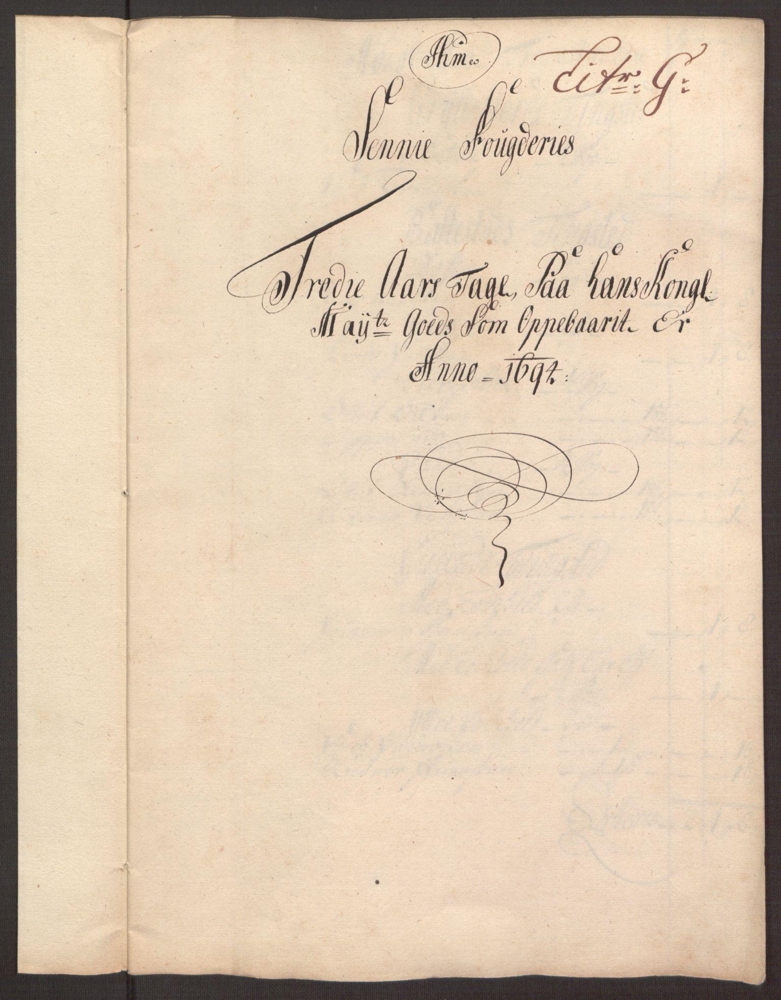 RA, Rentekammeret inntil 1814, Reviderte regnskaper, Fogderegnskap, R68/L4753: Fogderegnskap Senja og Troms, 1694-1696, s. 89