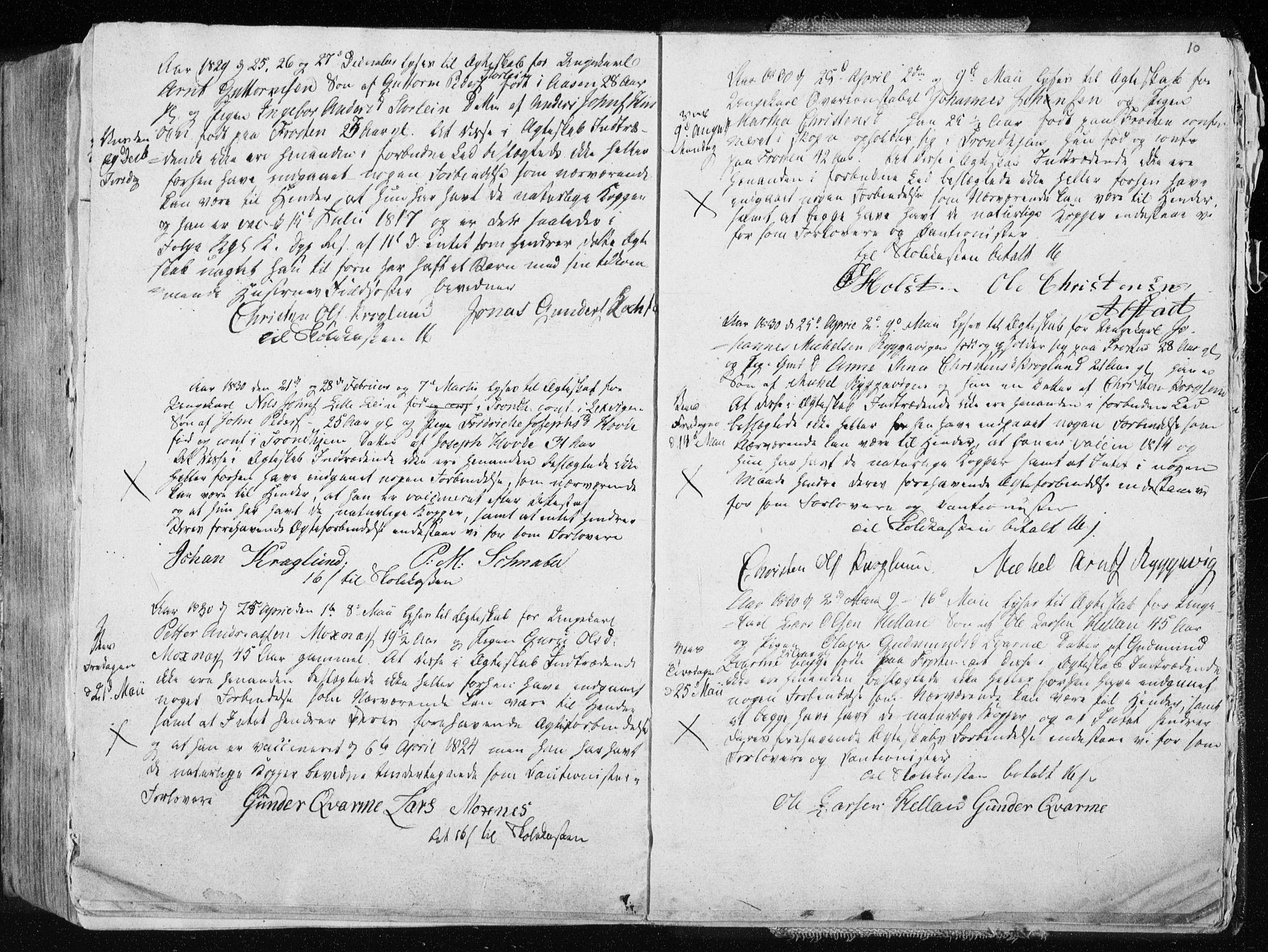SAT, Ministerialprotokoller, klokkerbøker og fødselsregistre - Nord-Trøndelag, 713/L0114: Ministerialbok nr. 713A05, 1827-1839, s. 10