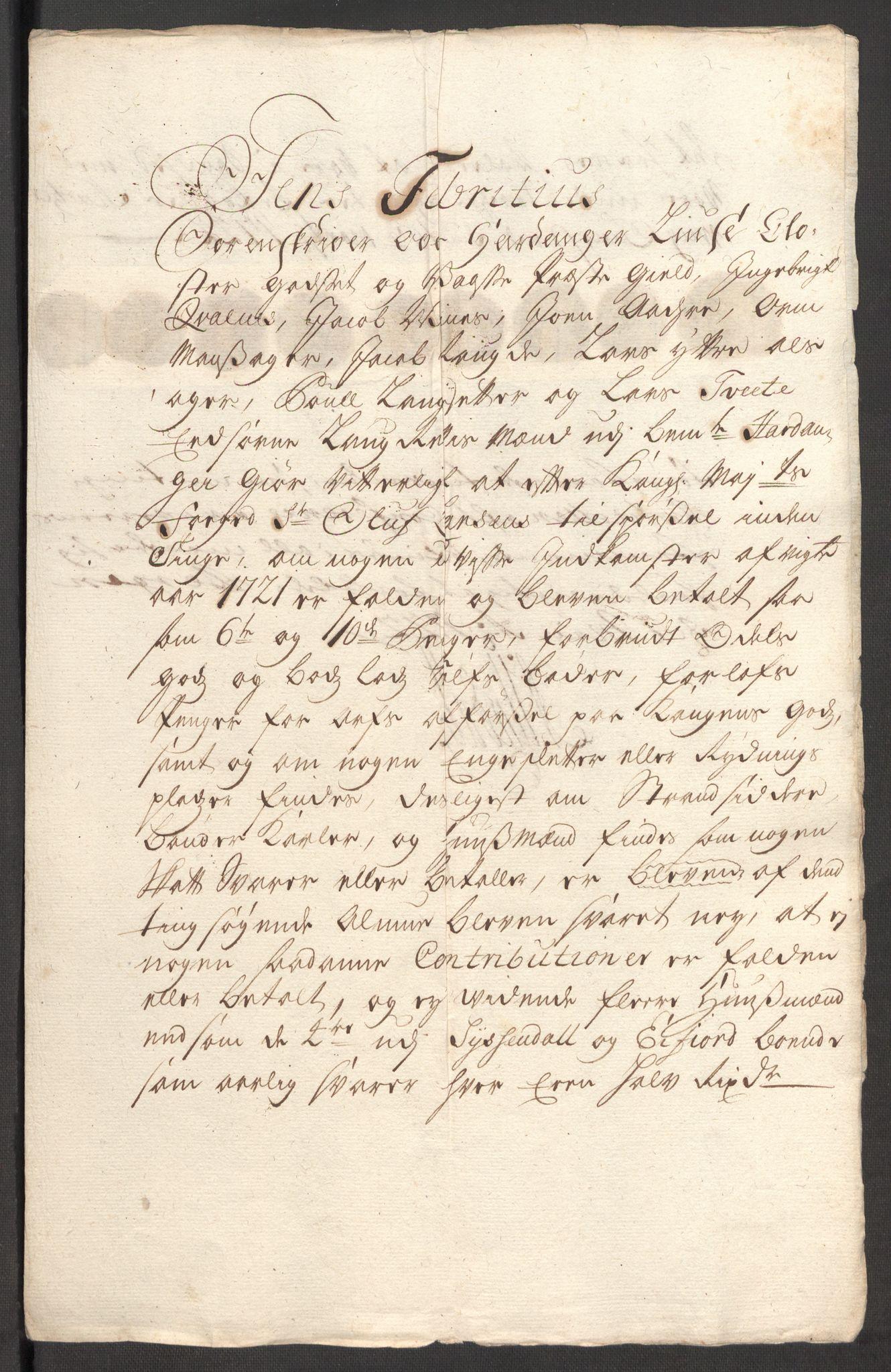 RA, Rentekammeret inntil 1814, Reviderte regnskaper, Fogderegnskap, R48/L3000: Fogderegnskap Sunnhordland og Hardanger, 1721, s. 192