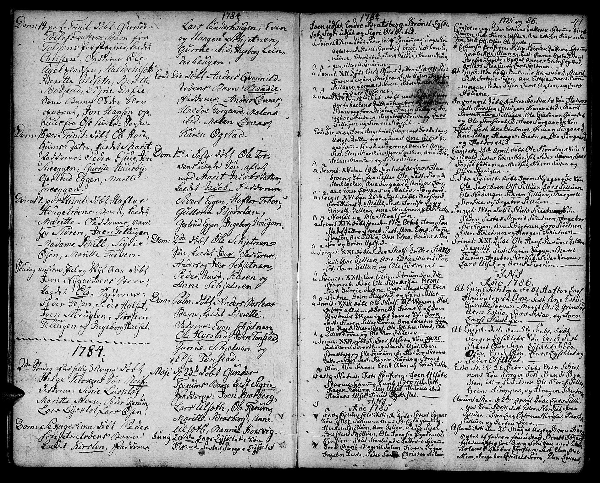 SAT, Ministerialprotokoller, klokkerbøker og fødselsregistre - Sør-Trøndelag, 618/L0438: Ministerialbok nr. 618A03, 1783-1815, s. 41