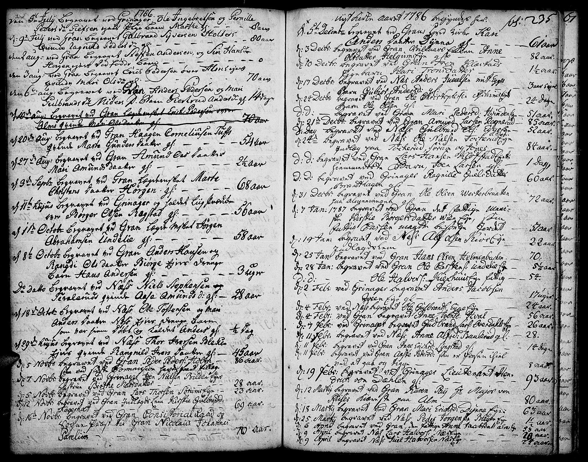 SAH, Gran prestekontor, Ministerialbok nr. 5, 1776-1788, s. 235