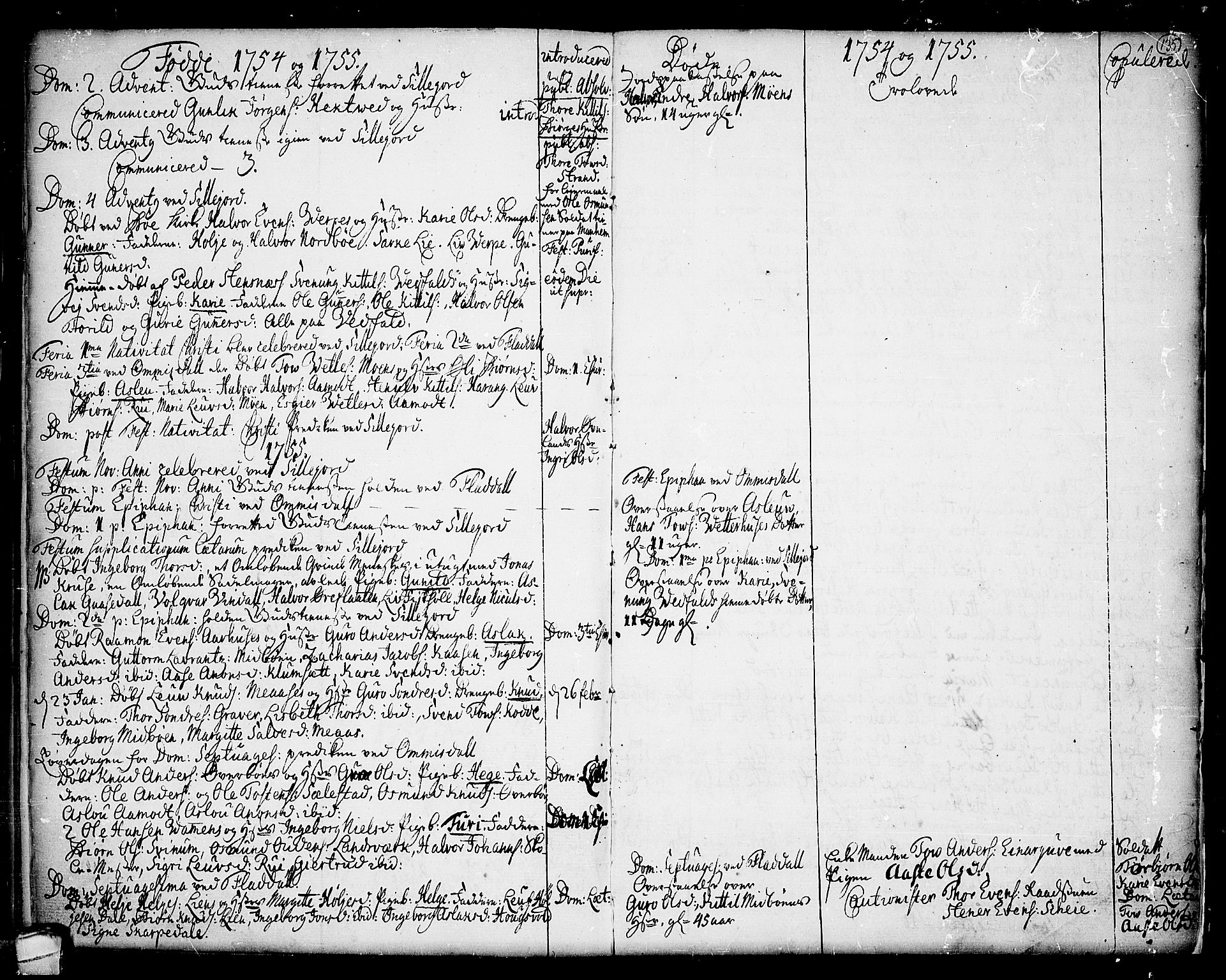 SAKO, Seljord kirkebøker, F/Fa/L0006: Ministerialbok nr. I 6, 1744-1755, s. 135
