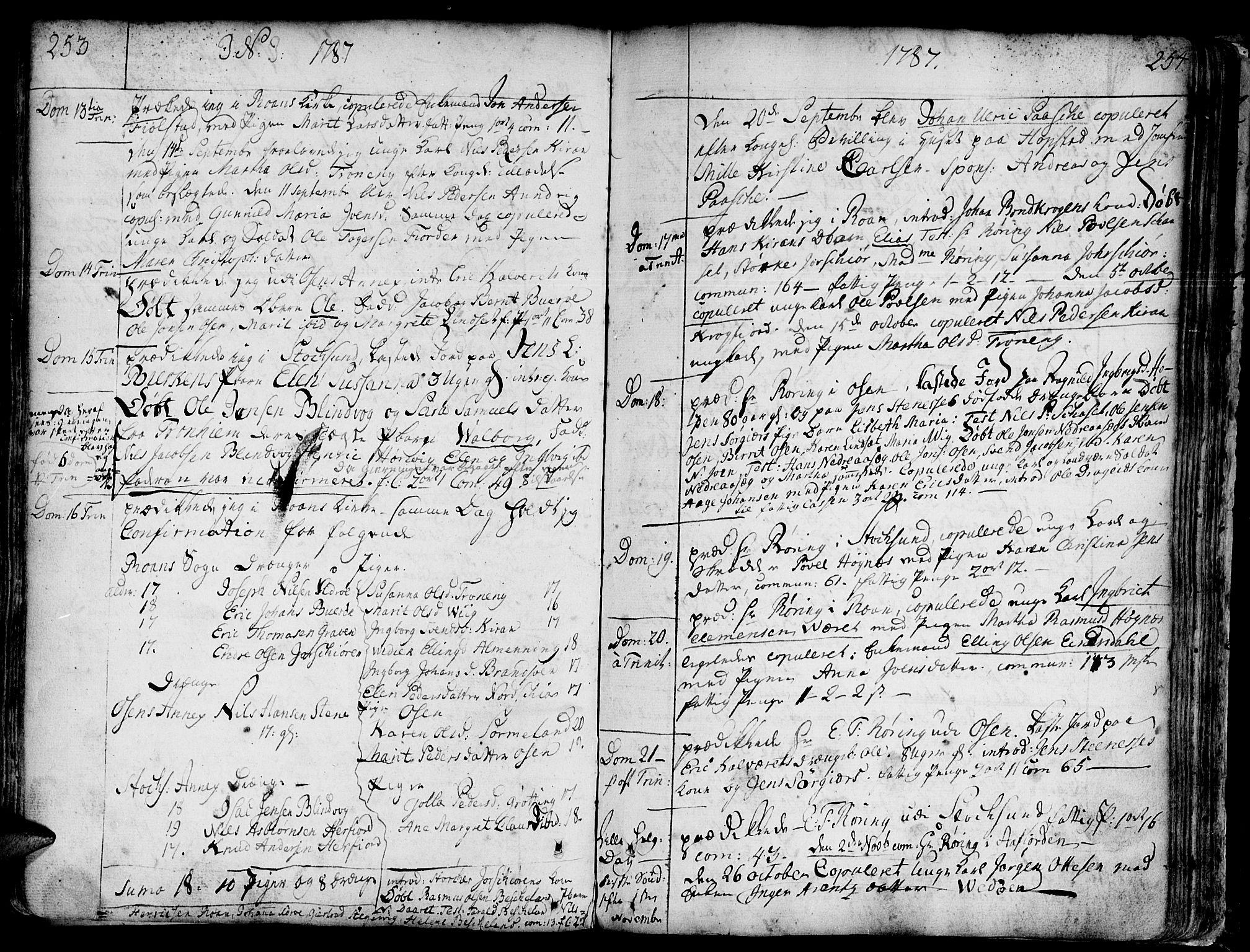 SAT, Ministerialprotokoller, klokkerbøker og fødselsregistre - Sør-Trøndelag, 657/L0700: Ministerialbok nr. 657A01, 1732-1801, s. 353-354