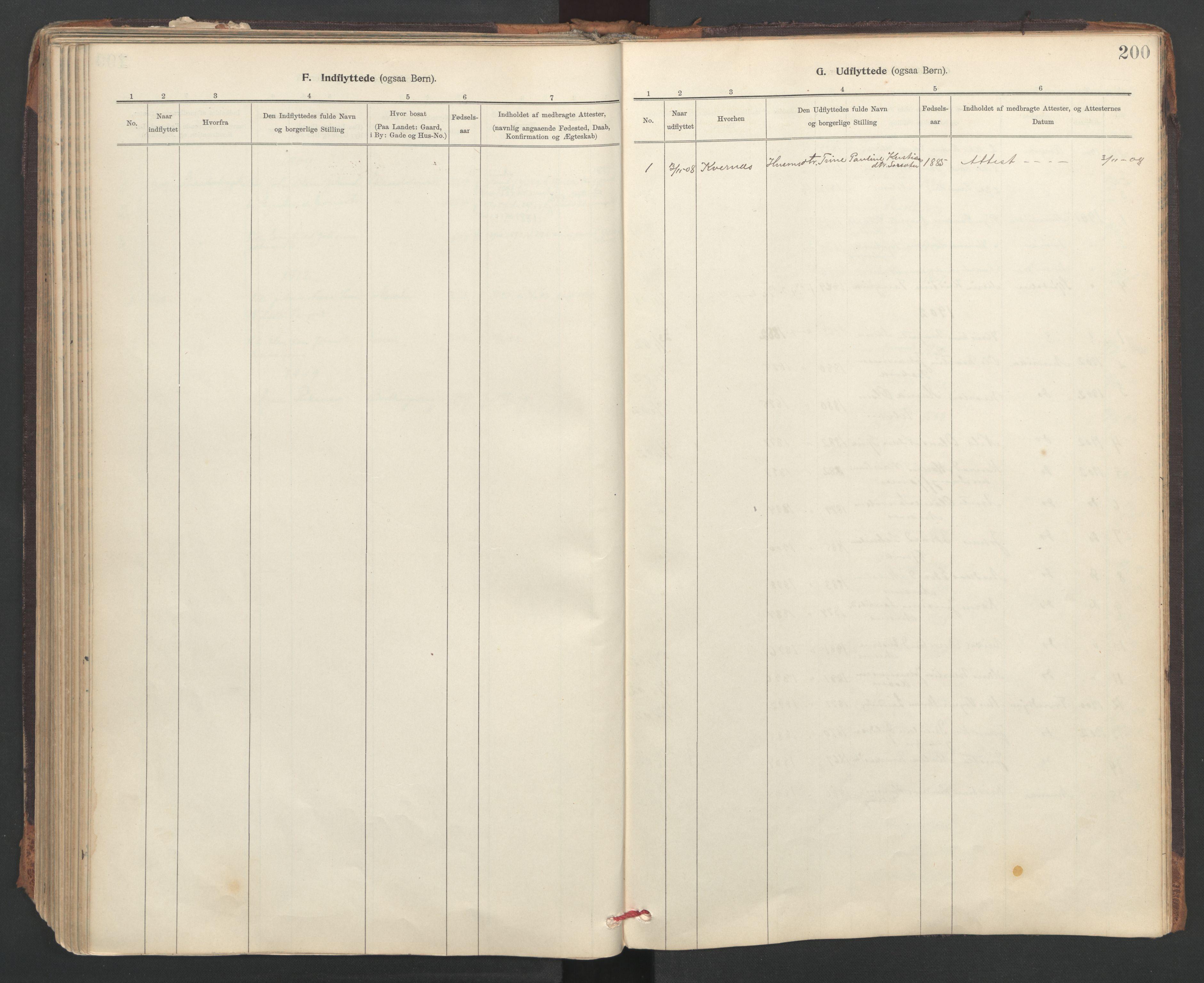 SAT, Ministerialprotokoller, klokkerbøker og fødselsregistre - Sør-Trøndelag, 637/L0559: Ministerialbok nr. 637A02, 1899-1923, s. 200
