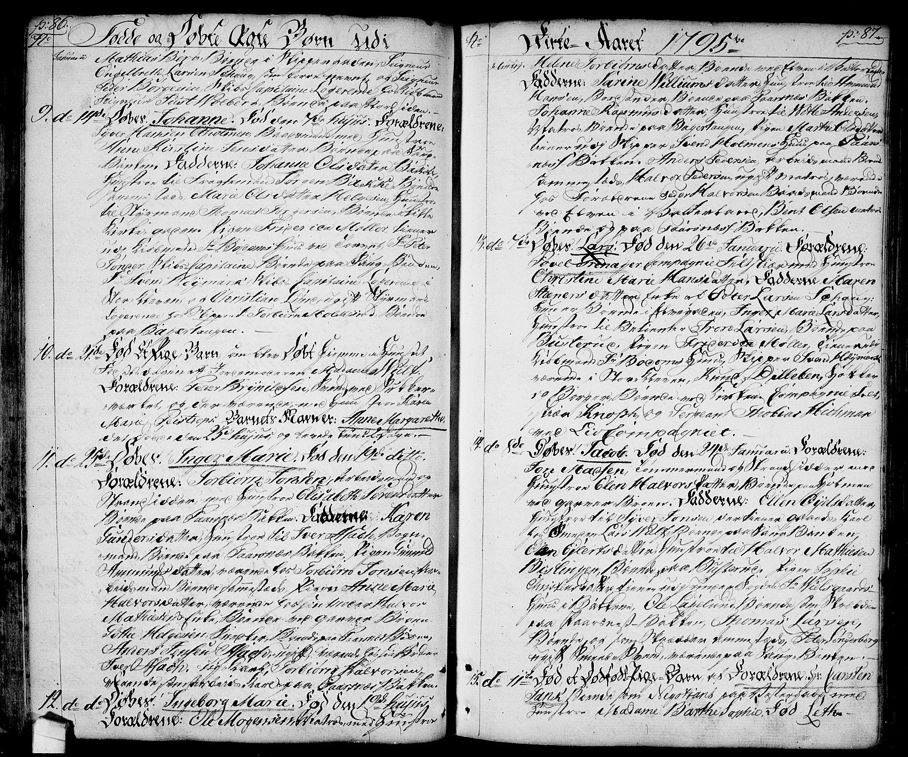 SAO, Halden prestekontor Kirkebøker, F/Fa/L0002: Ministerialbok nr. I 2, 1792-1812, s. 86-87
