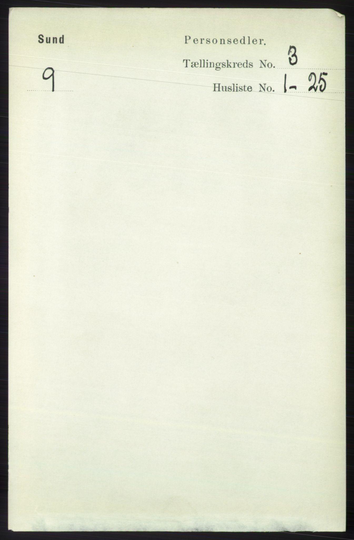 RA, Folketelling 1891 for 1245 Sund herred, 1891, s. 1208