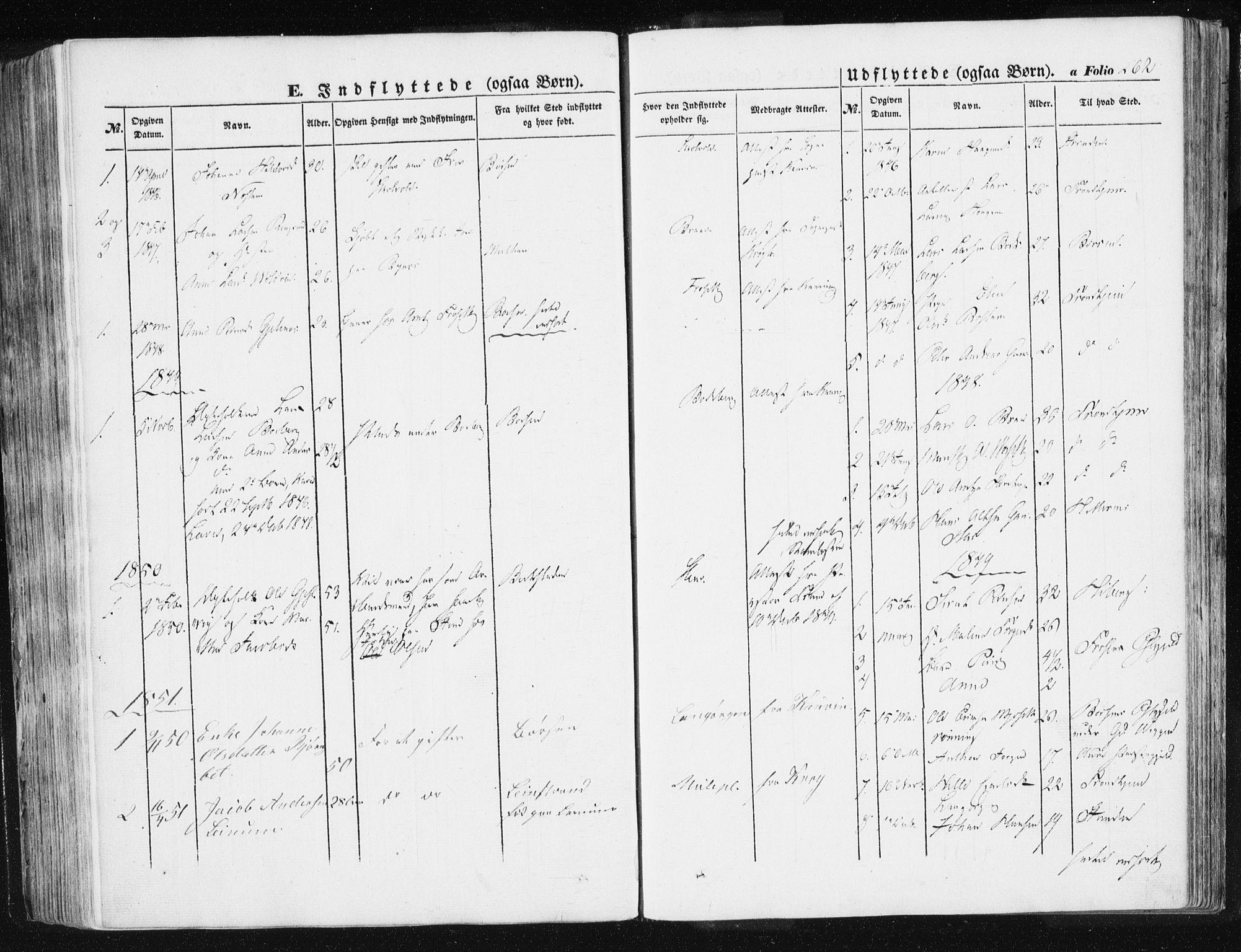 SAT, Ministerialprotokoller, klokkerbøker og fødselsregistre - Sør-Trøndelag, 612/L0376: Ministerialbok nr. 612A08, 1846-1859, s. 262