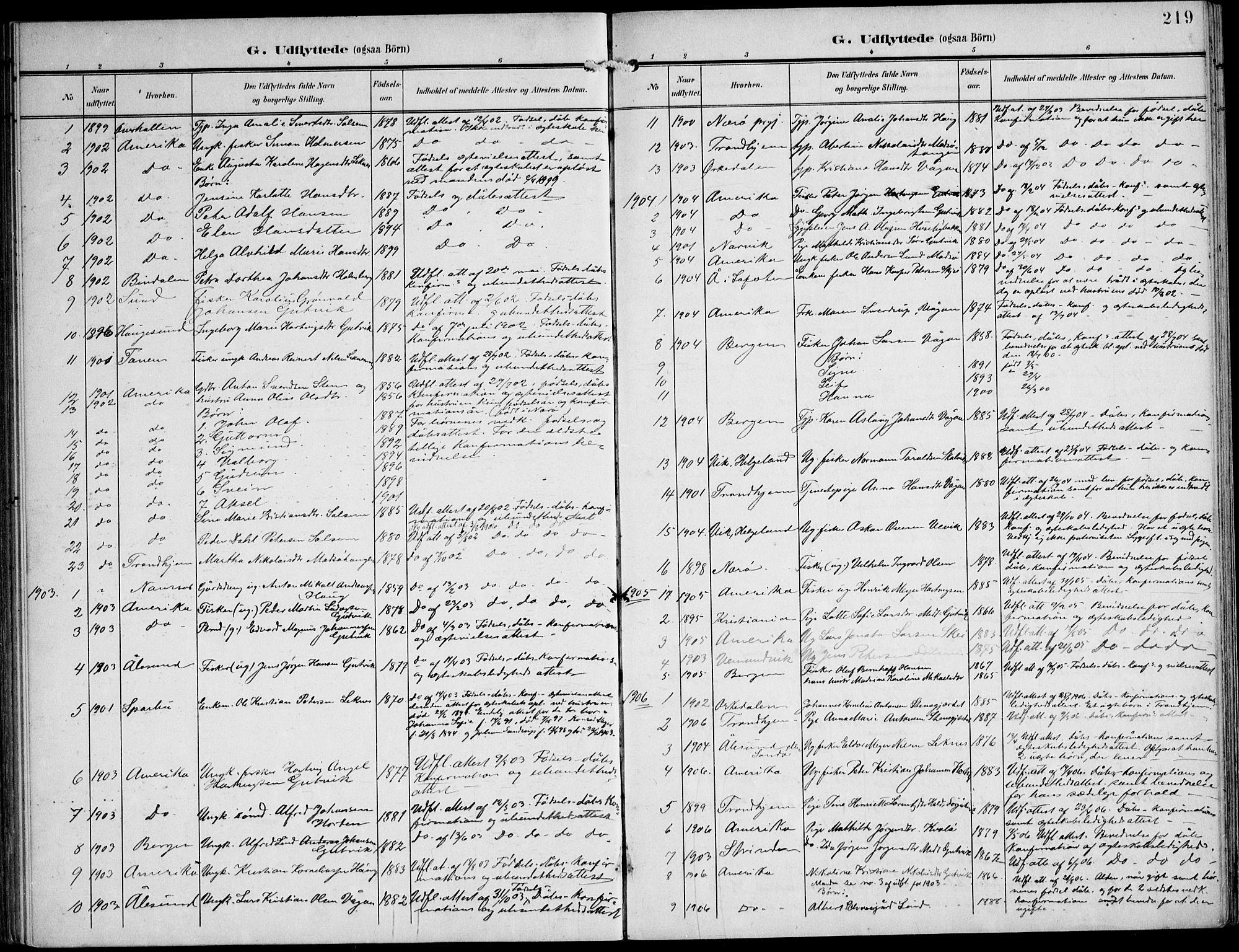 SAT, Ministerialprotokoller, klokkerbøker og fødselsregistre - Nord-Trøndelag, 788/L0698: Ministerialbok nr. 788A05, 1902-1921, s. 219