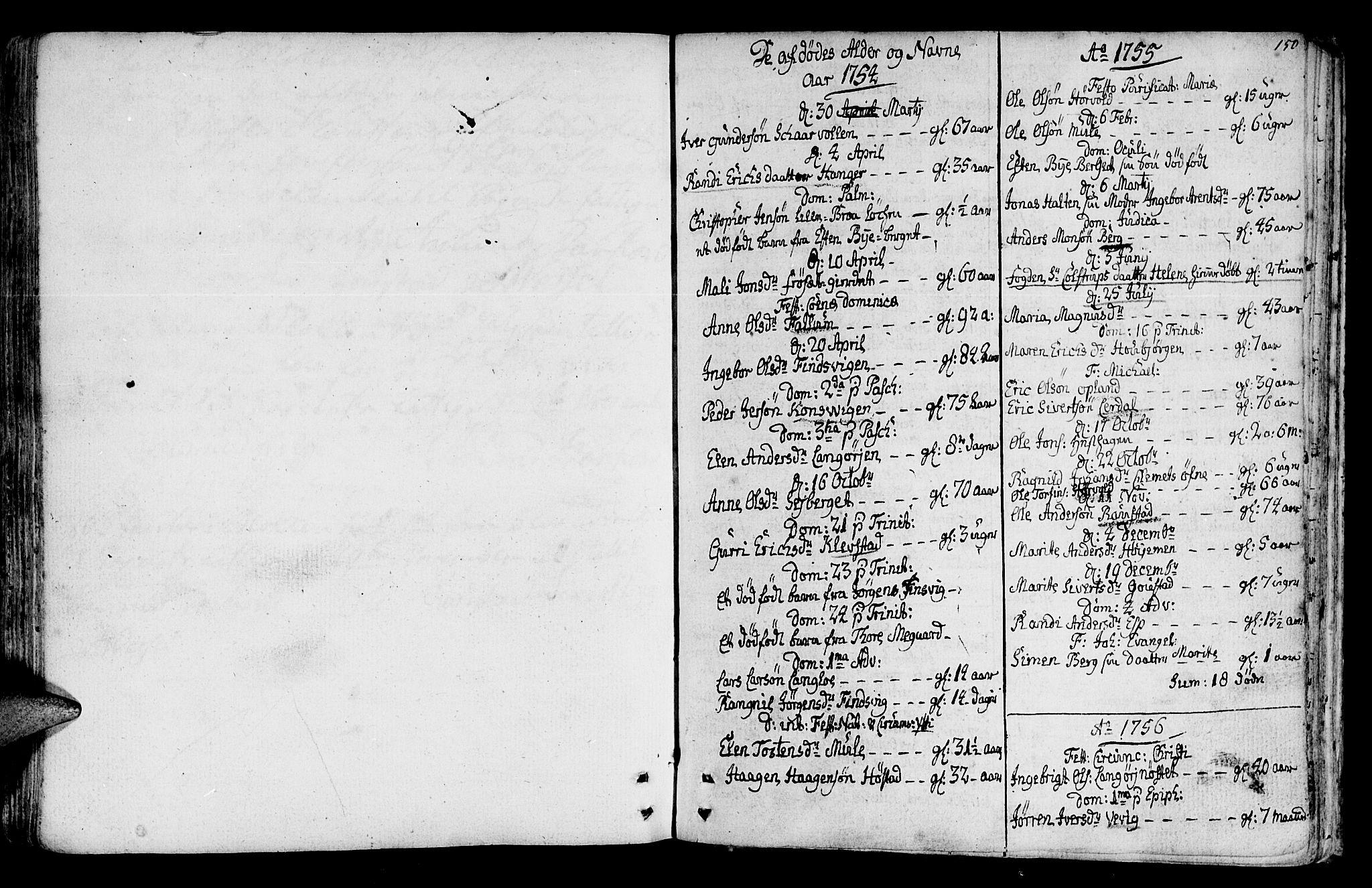 SAT, Ministerialprotokoller, klokkerbøker og fødselsregistre - Sør-Trøndelag, 612/L0370: Ministerialbok nr. 612A04, 1754-1802, s. 150