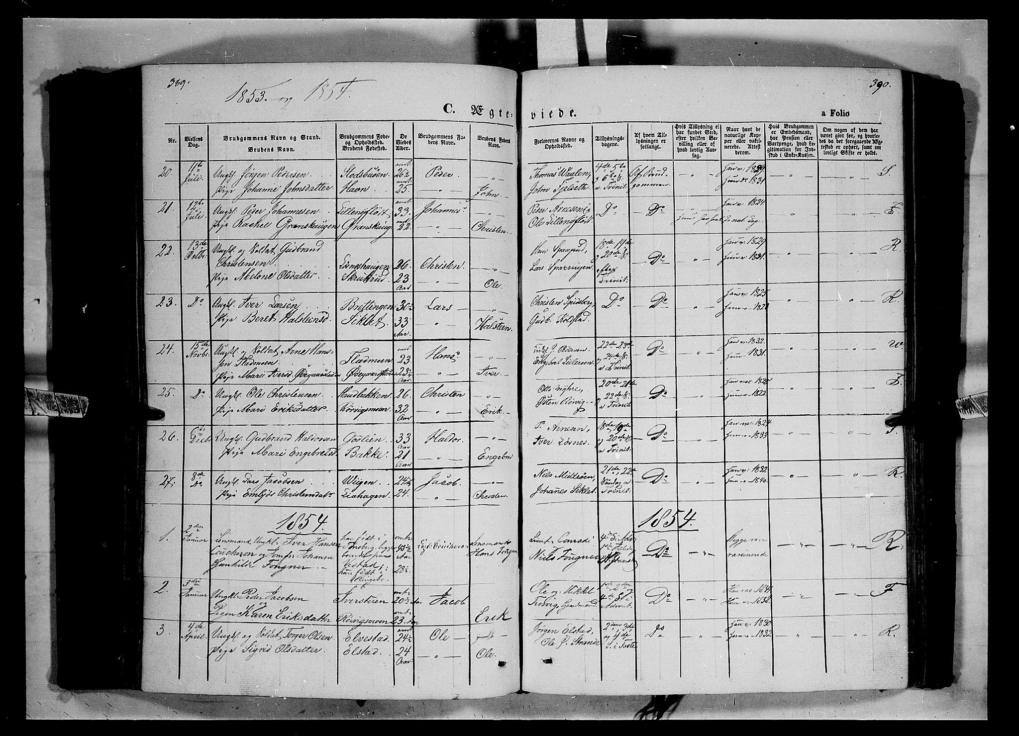 SAH, Ringebu prestekontor, Ministerialbok nr. 6, 1848-1859, s. 389-390