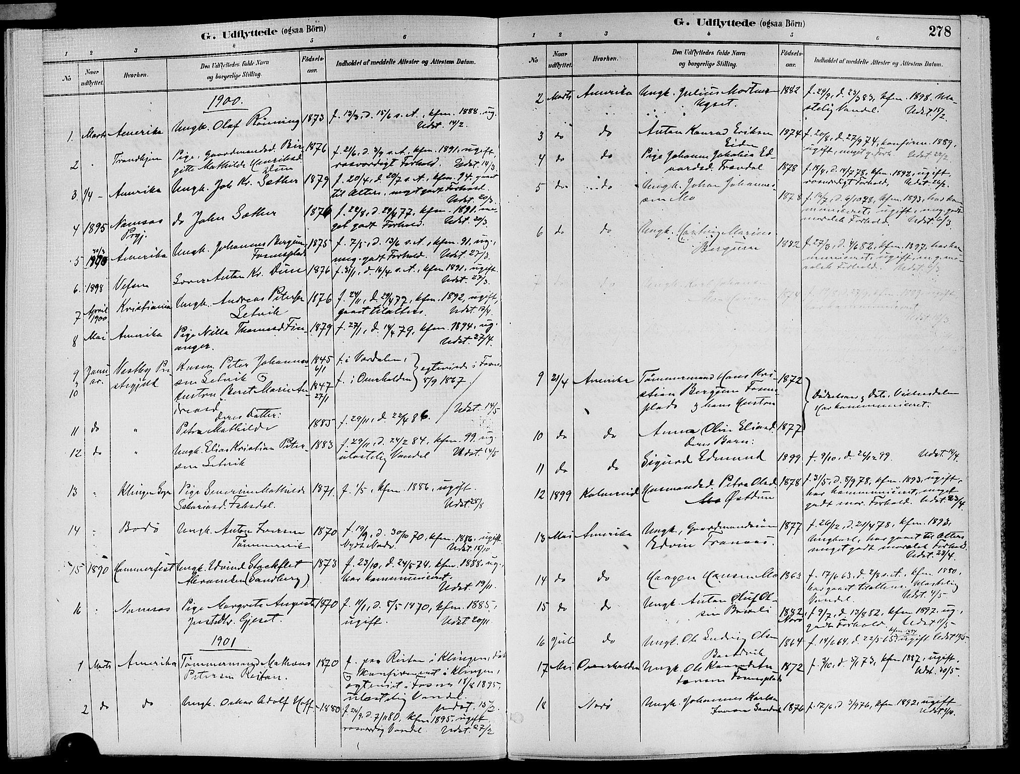 SAT, Ministerialprotokoller, klokkerbøker og fødselsregistre - Nord-Trøndelag, 773/L0617: Ministerialbok nr. 773A08, 1887-1910, s. 278