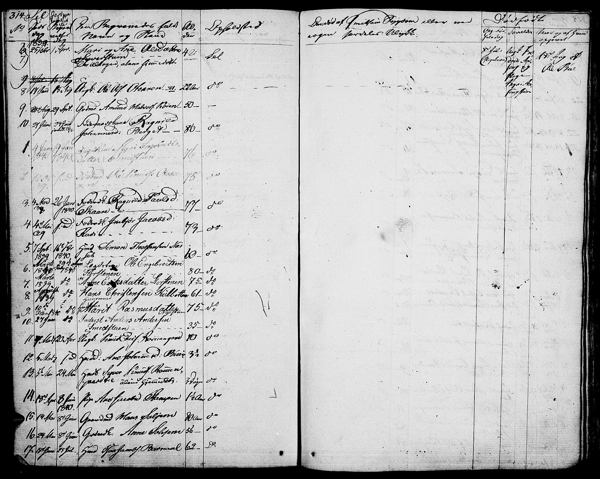 SAH, Vågå prestekontor, Ministerialbok nr. 4 /3, 1834-1842, s. 314