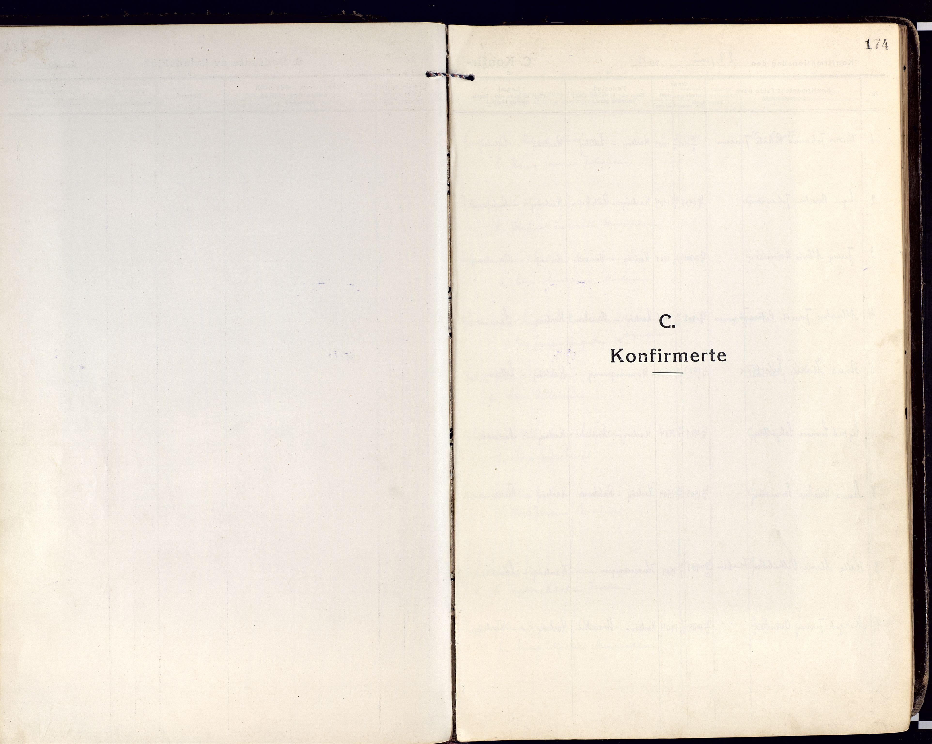 SATØ, Karlsøy sokneprestembete, Ministerialbok nr. 15, 1918-1929, s. 174