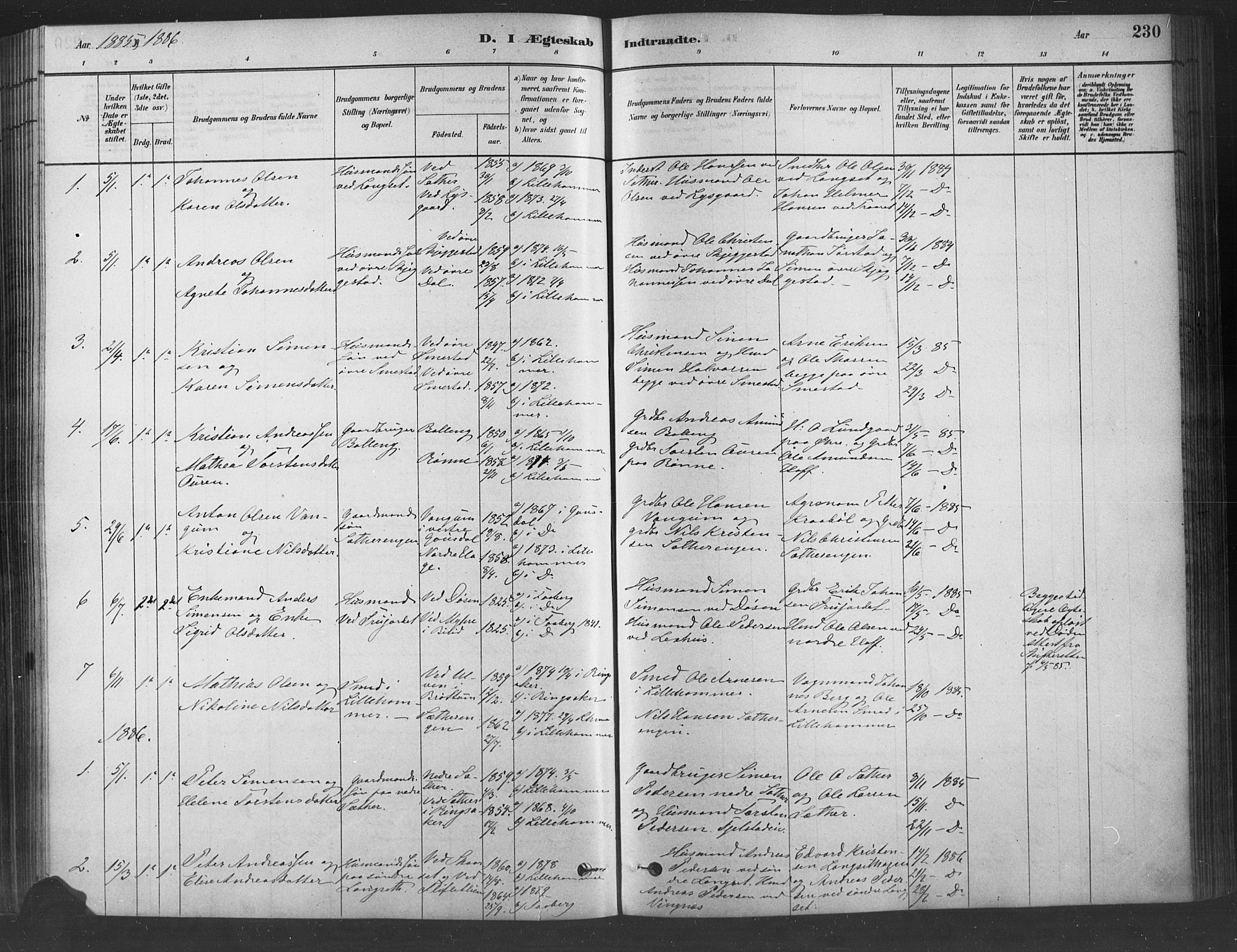SAH, Fåberg prestekontor, Ministerialbok nr. 9, 1879-1898, s. 230