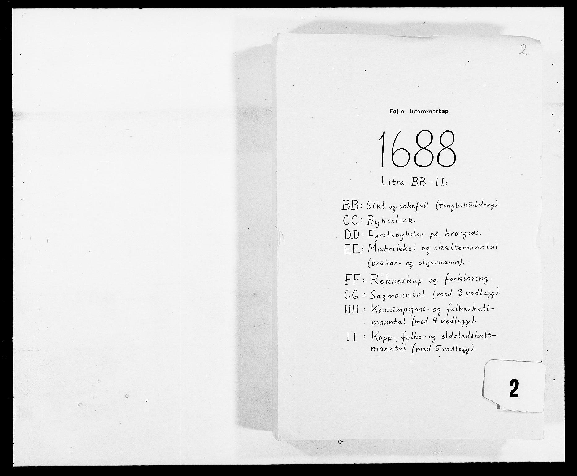 RA, Rentekammeret inntil 1814, Reviderte regnskaper, Fogderegnskap, R09/L0434: Fogderegnskap Follo, 1687-1688, s. 195