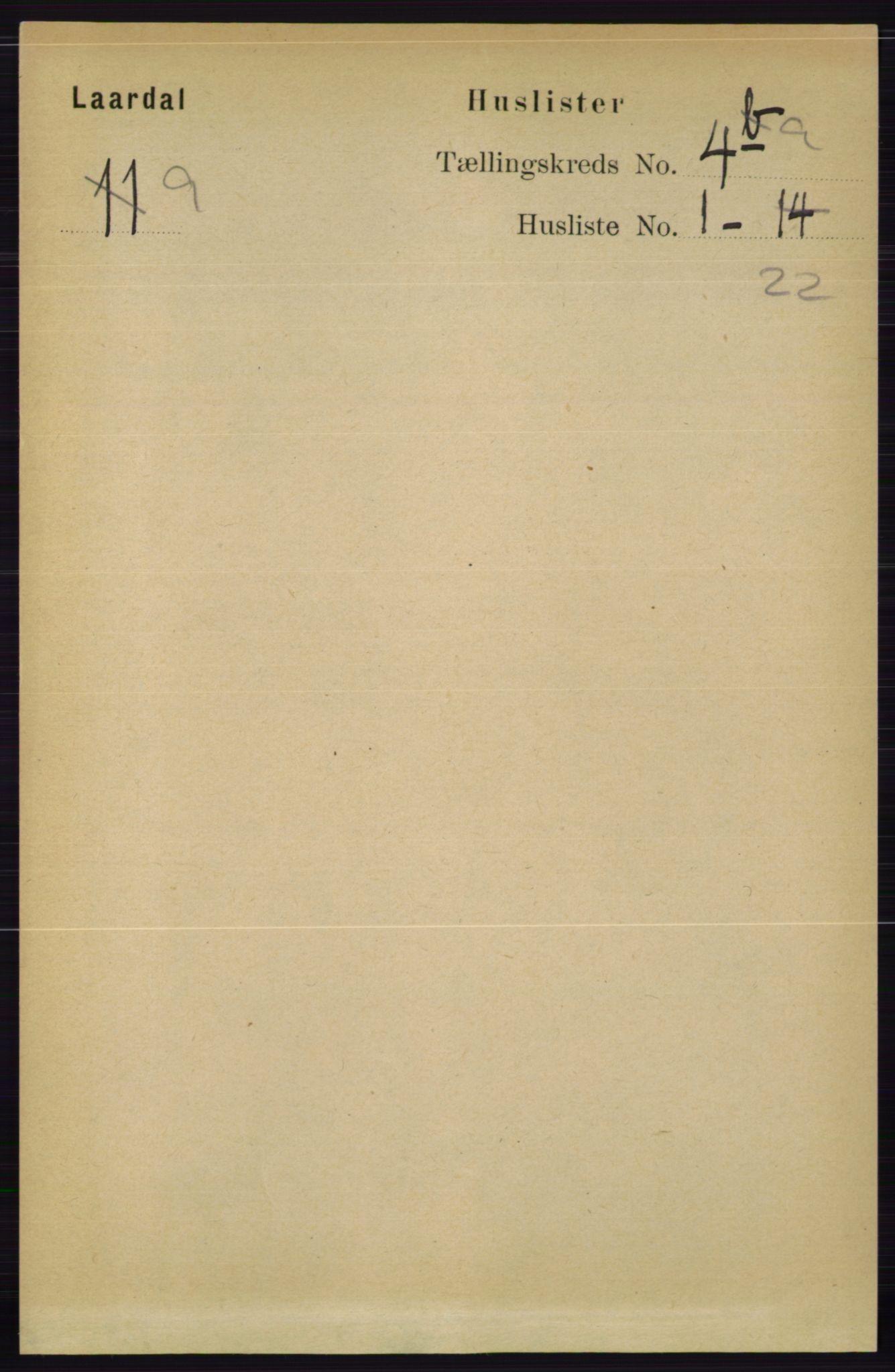 RA, Folketelling 1891 for 0833 Lårdal herred, 1891, s. 1000