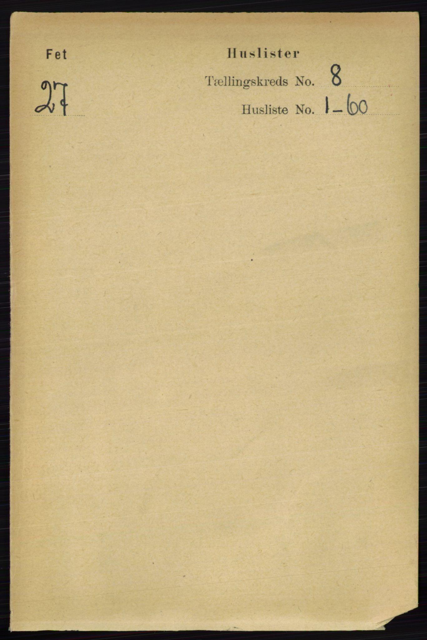 RA, Folketelling 1891 for 0227 Fet herred, 1891, s. 2981