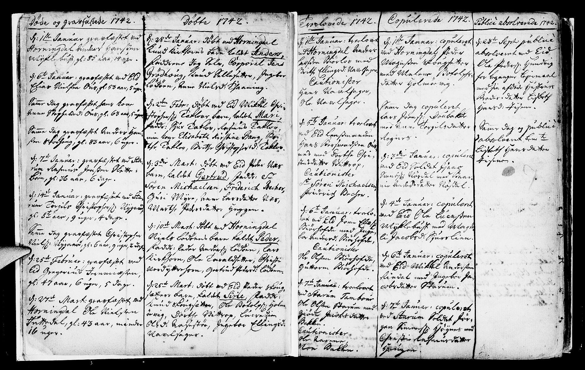 SAB, Eid Sokneprestembete, H/Haa: Ministerialbok nr. A 2, 1741-1769, s. 7