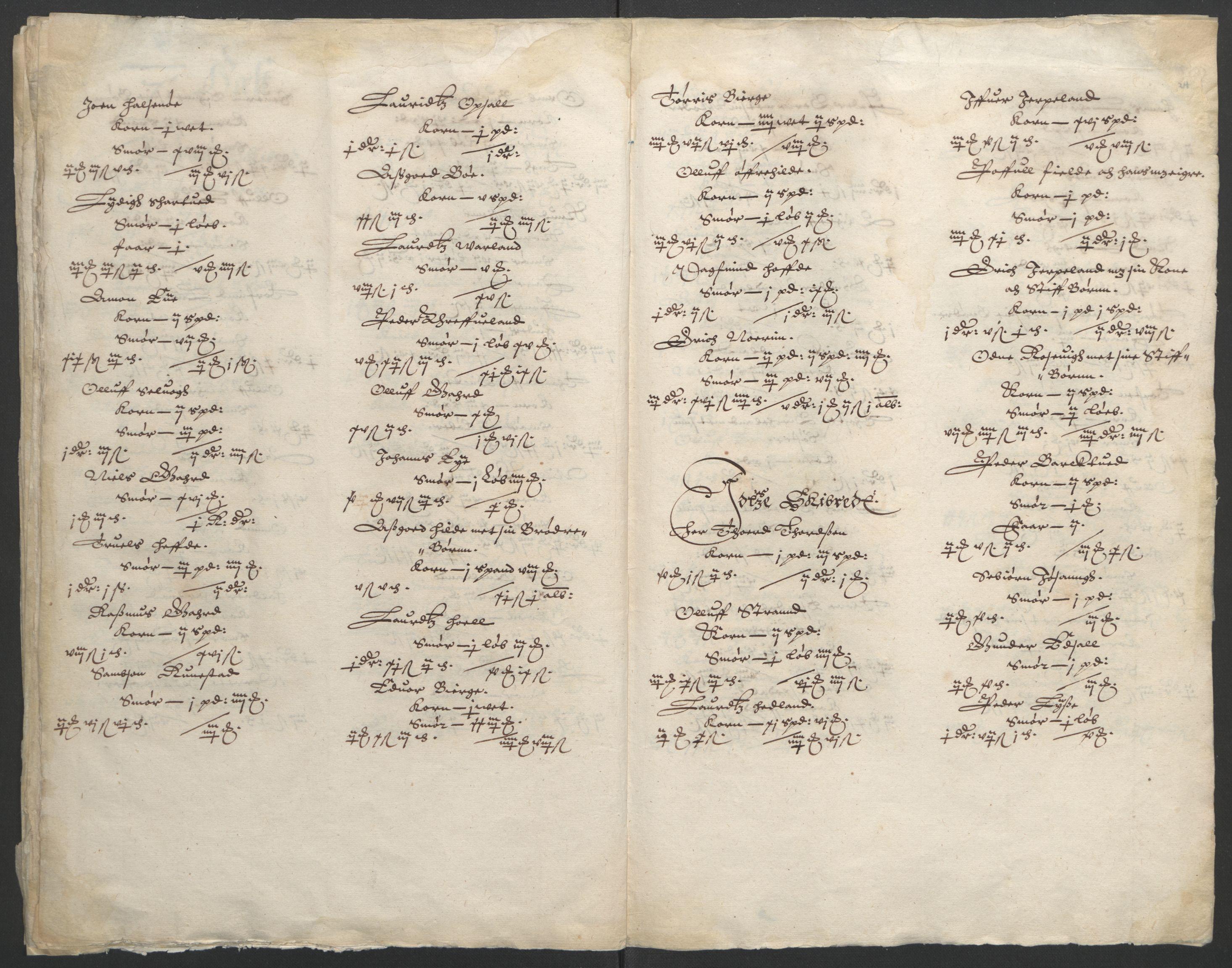 RA, Stattholderembetet 1572-1771, Ek/L0010: Jordebøker til utlikning av rosstjeneste 1624-1626:, 1624-1626, s. 89
