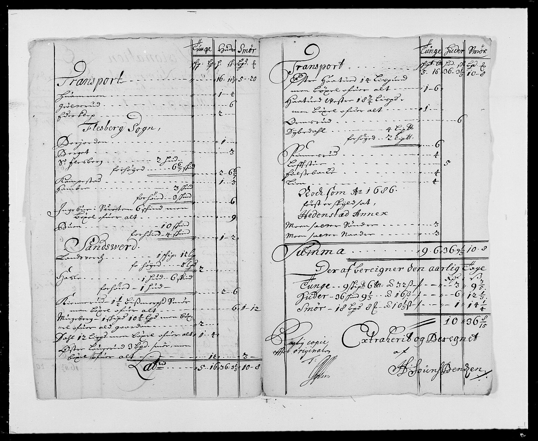 RA, Rentekammeret inntil 1814, Reviderte regnskaper, Fogderegnskap, R24/L1573: Fogderegnskap Numedal og Sandsvær, 1687-1691, s. 289