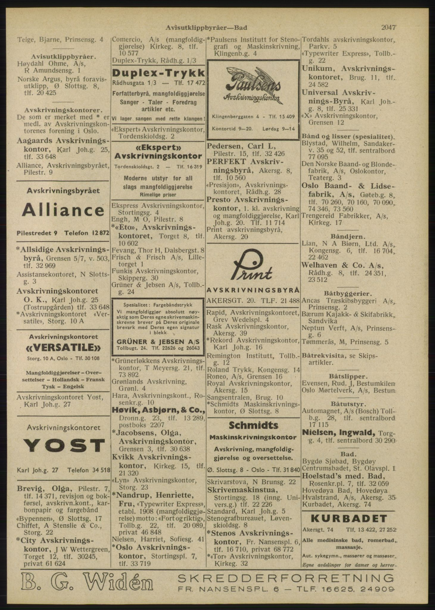 RA, Oslo adressebok (publikasjon)*, 1946, s. 2047