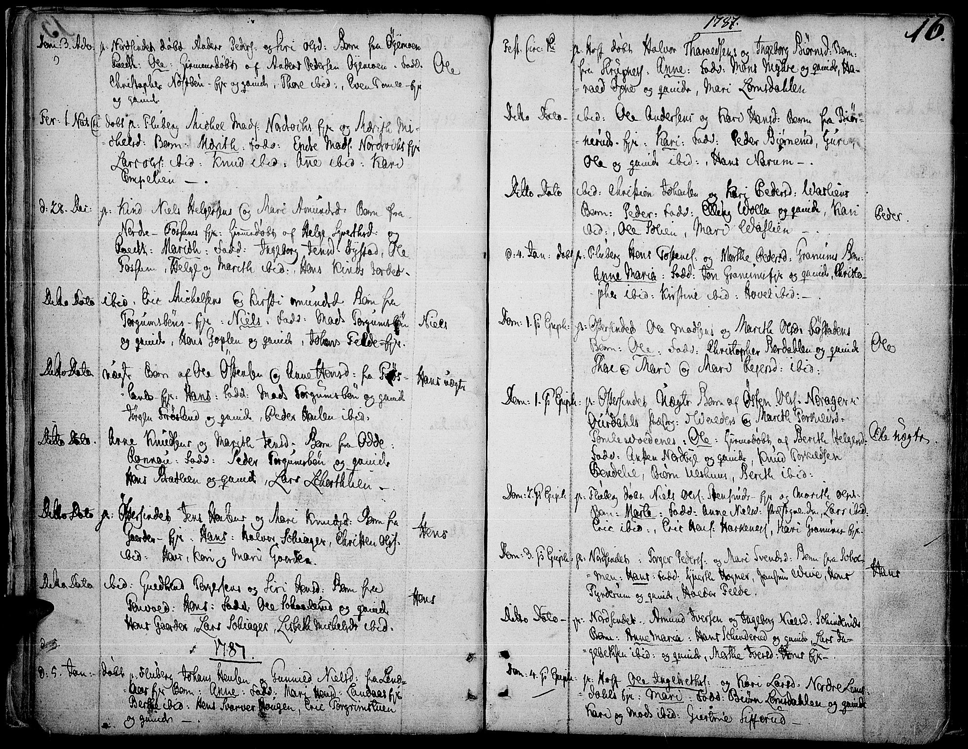SAH, Land prestekontor, Ministerialbok nr. 6, 1784-1813, s. 16