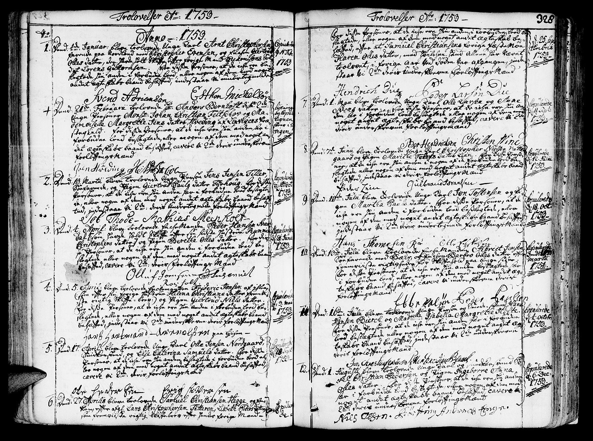 SAT, Ministerialprotokoller, klokkerbøker og fødselsregistre - Sør-Trøndelag, 602/L0103: Ministerialbok nr. 602A01, 1732-1774, s. 328