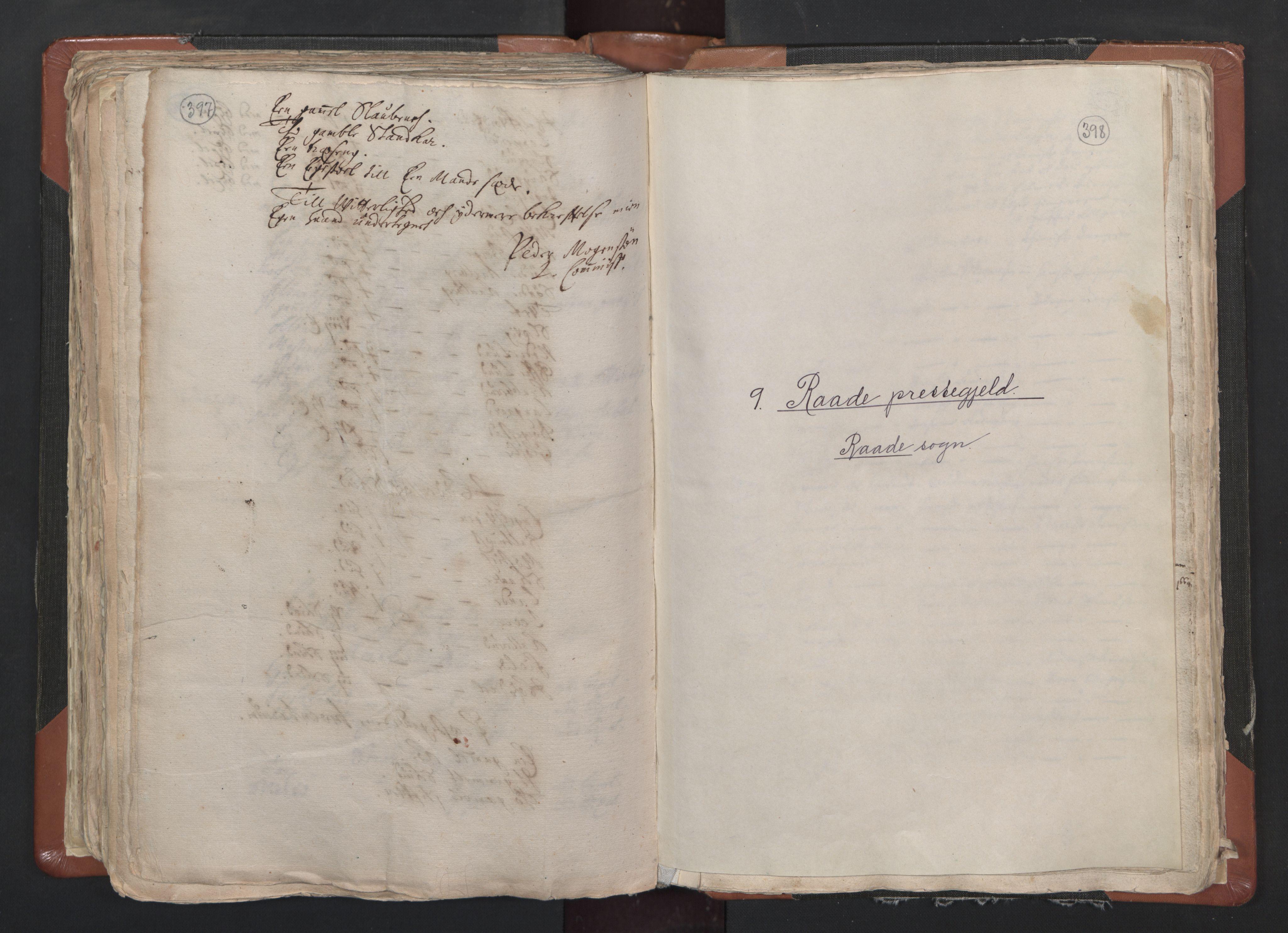 RA, Sogneprestenes manntall 1664-1666, nr. 1: Nedre Borgesyssel prosti, 1664-1666, s. 397-398