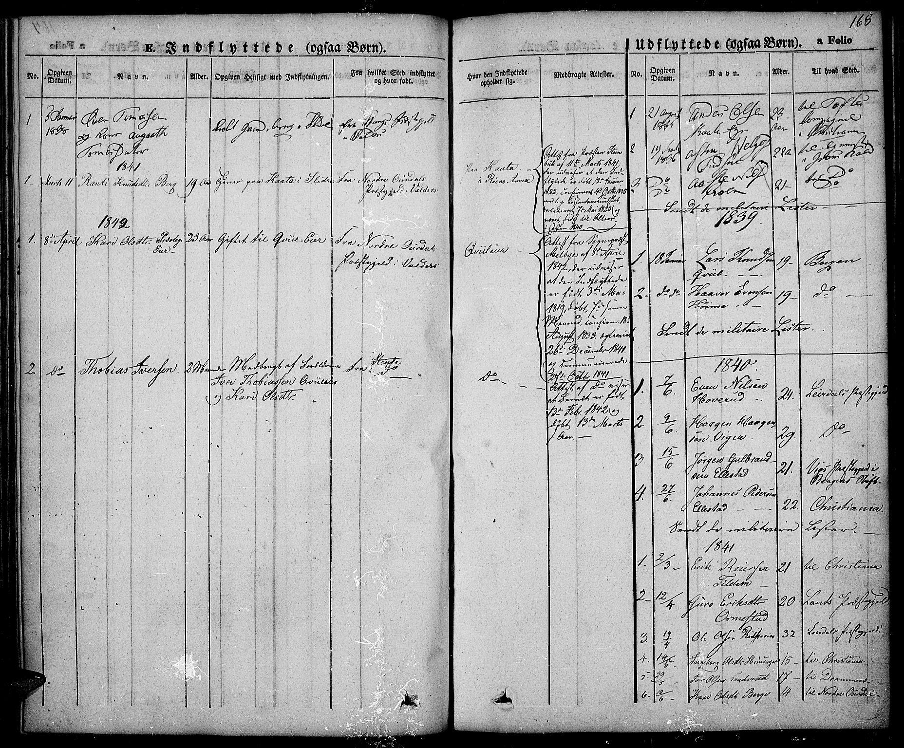 SAH, Slidre prestekontor, Ministerialbok nr. 3, 1831-1843, s. 168